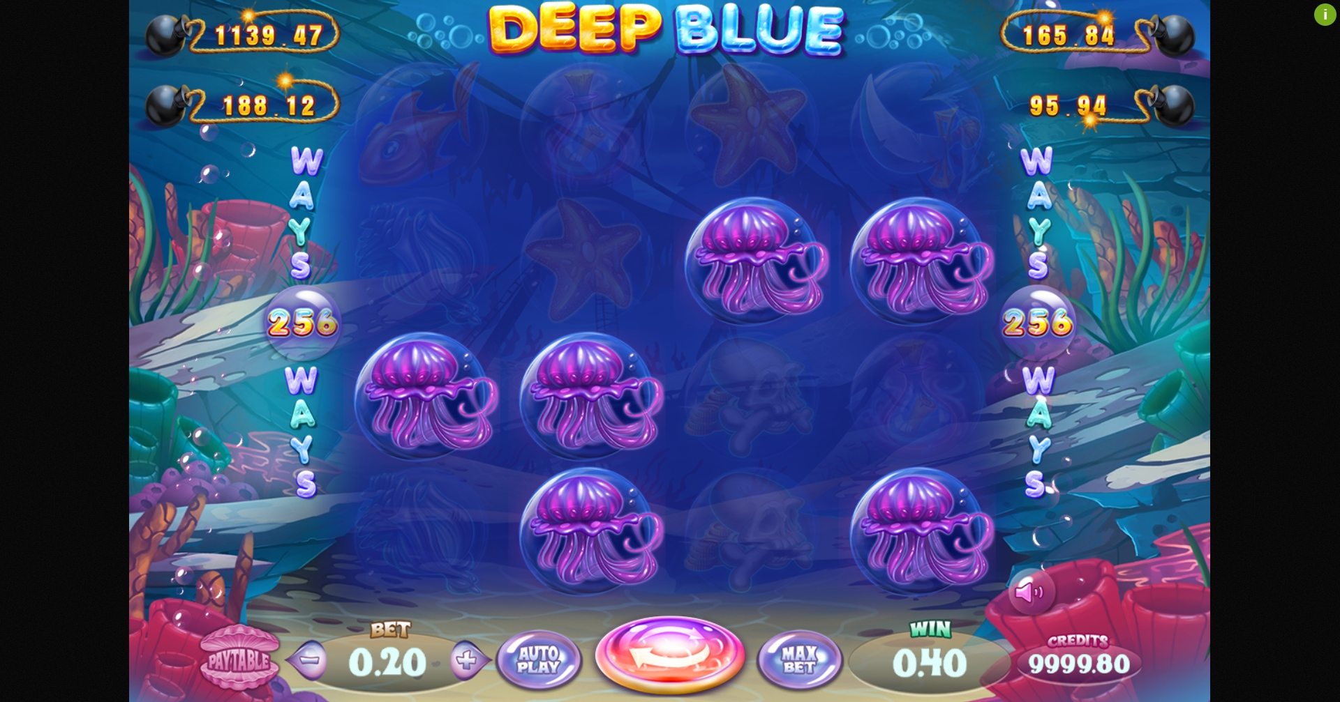 Win Money in Deep Blue Jackbomb Free Slot Game by Felix Gaming