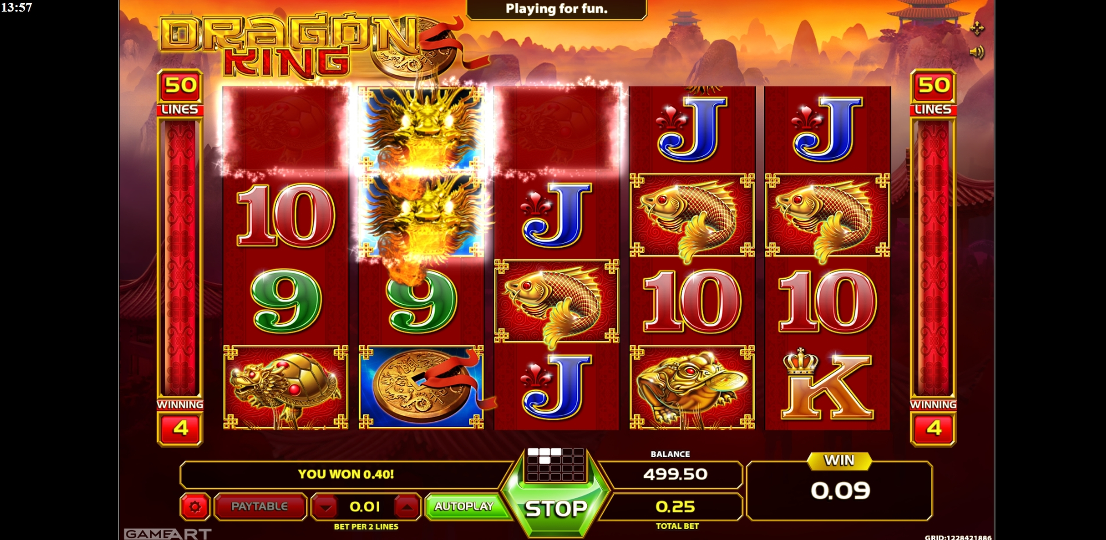 Win Money in Dragon King (GameArt) Free Slot Game by GameArt