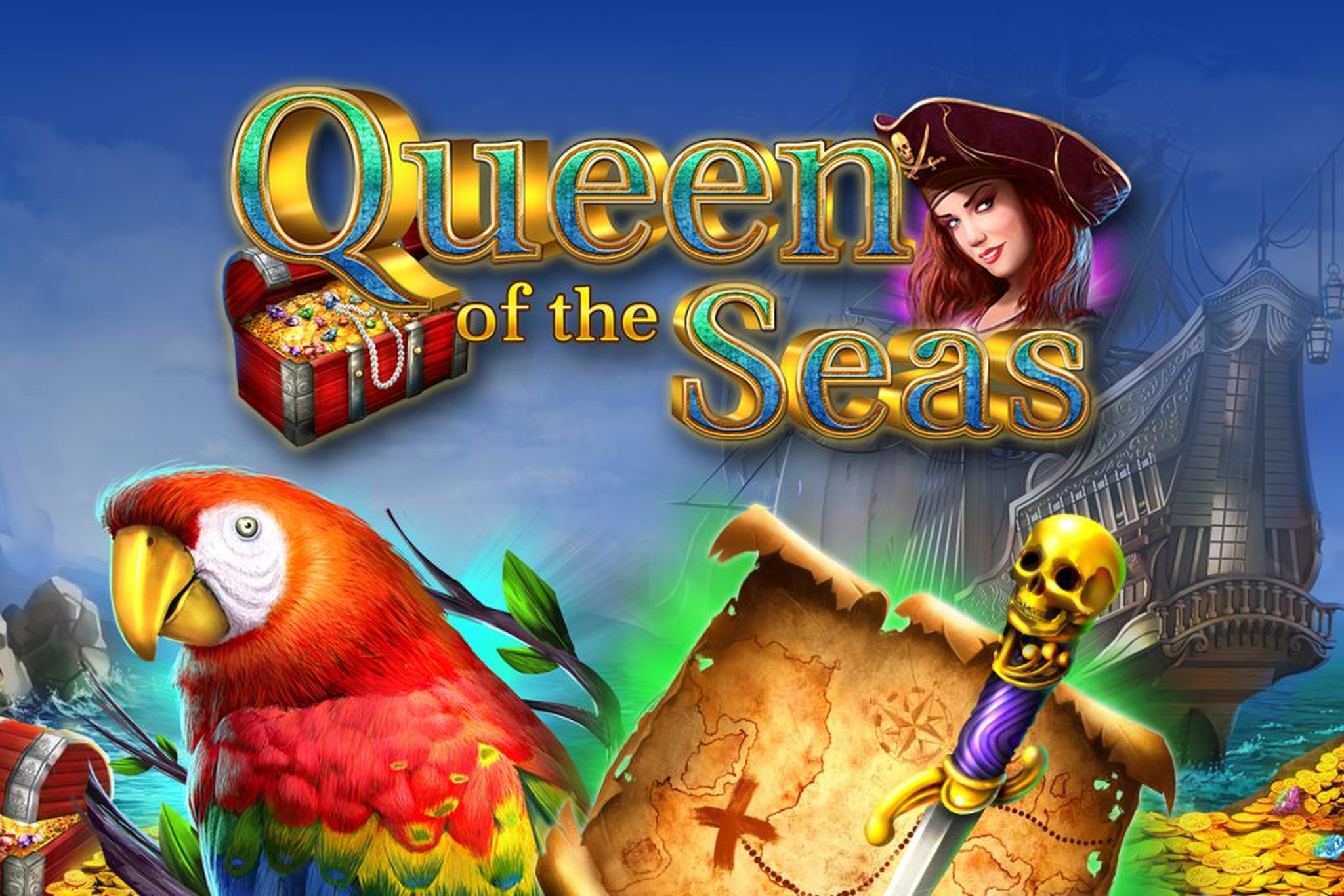 The Queen Of The Seas Online Slot Demo Game by GameArt