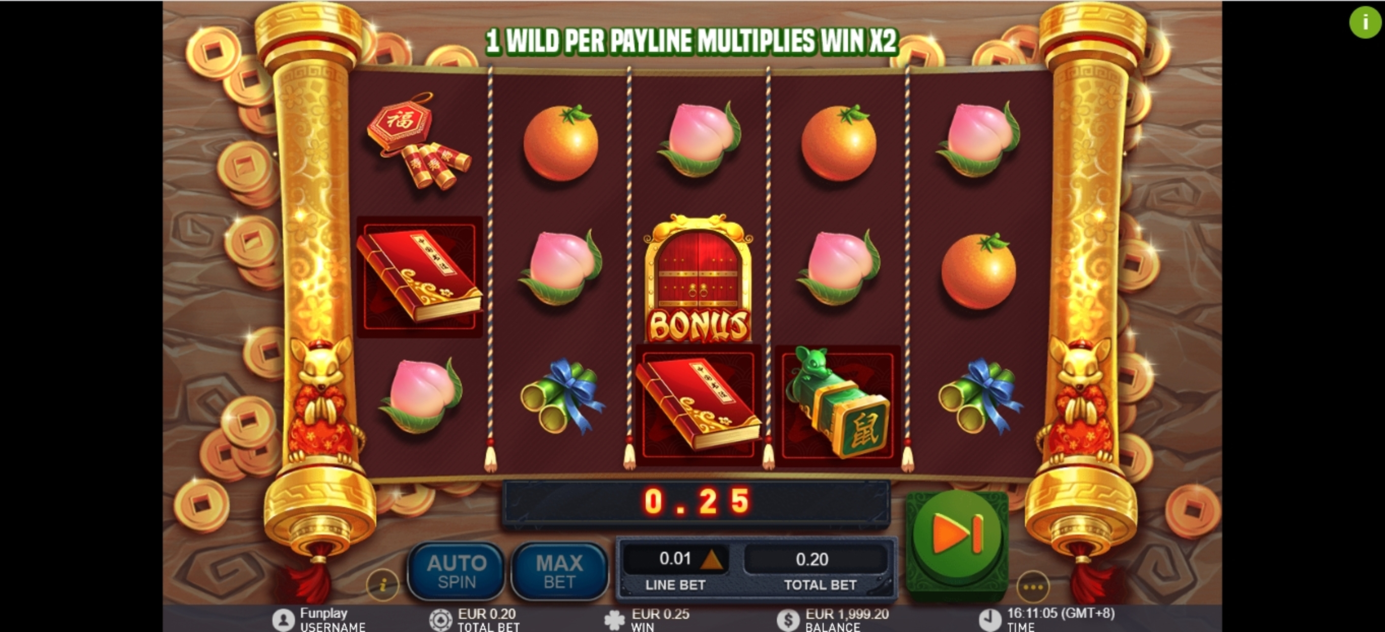 Win Money in Golden Ink Rat Free Slot Game by Gameplay Interactive