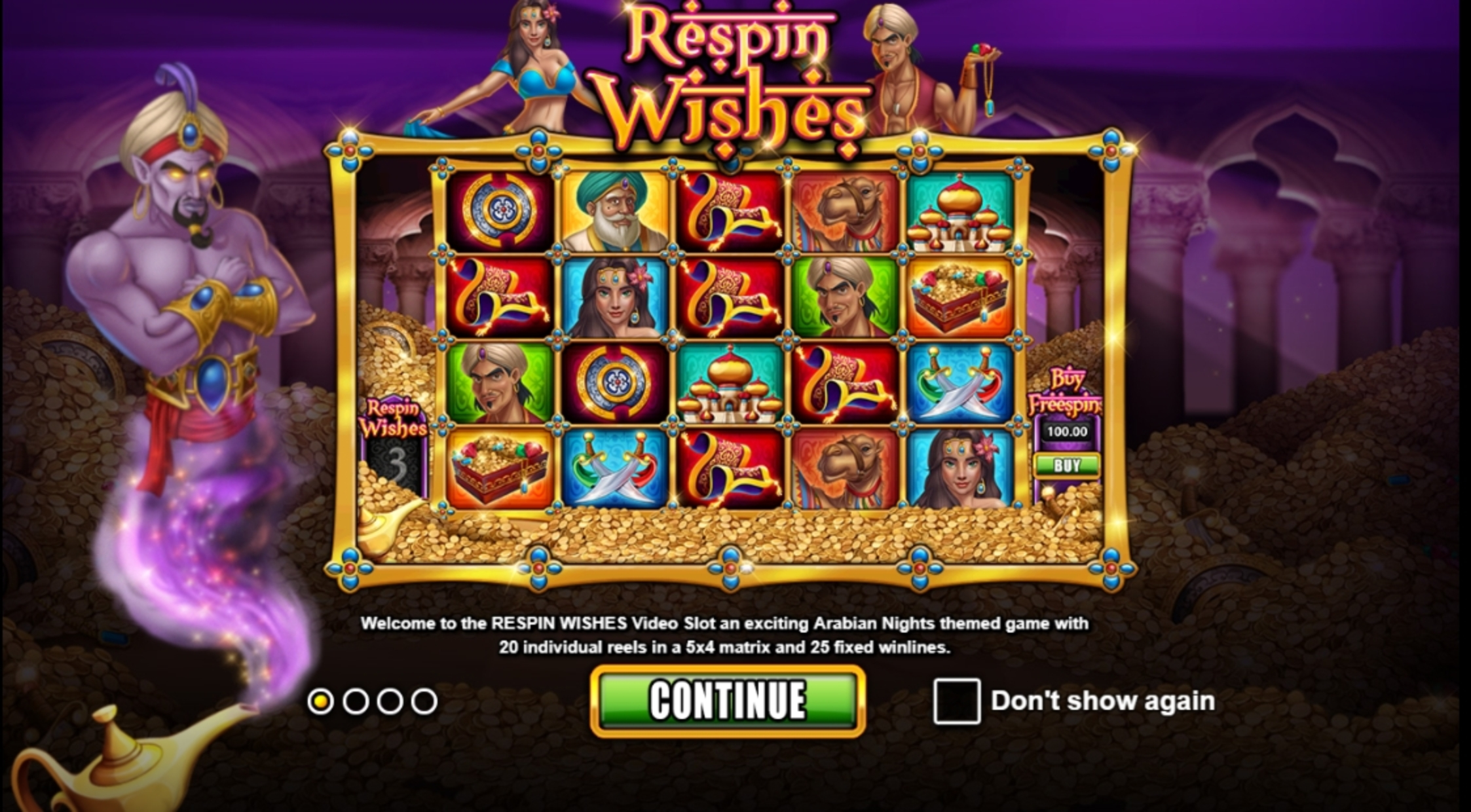 Play Respin Wishes Free Casino Slot Game by Games Inc