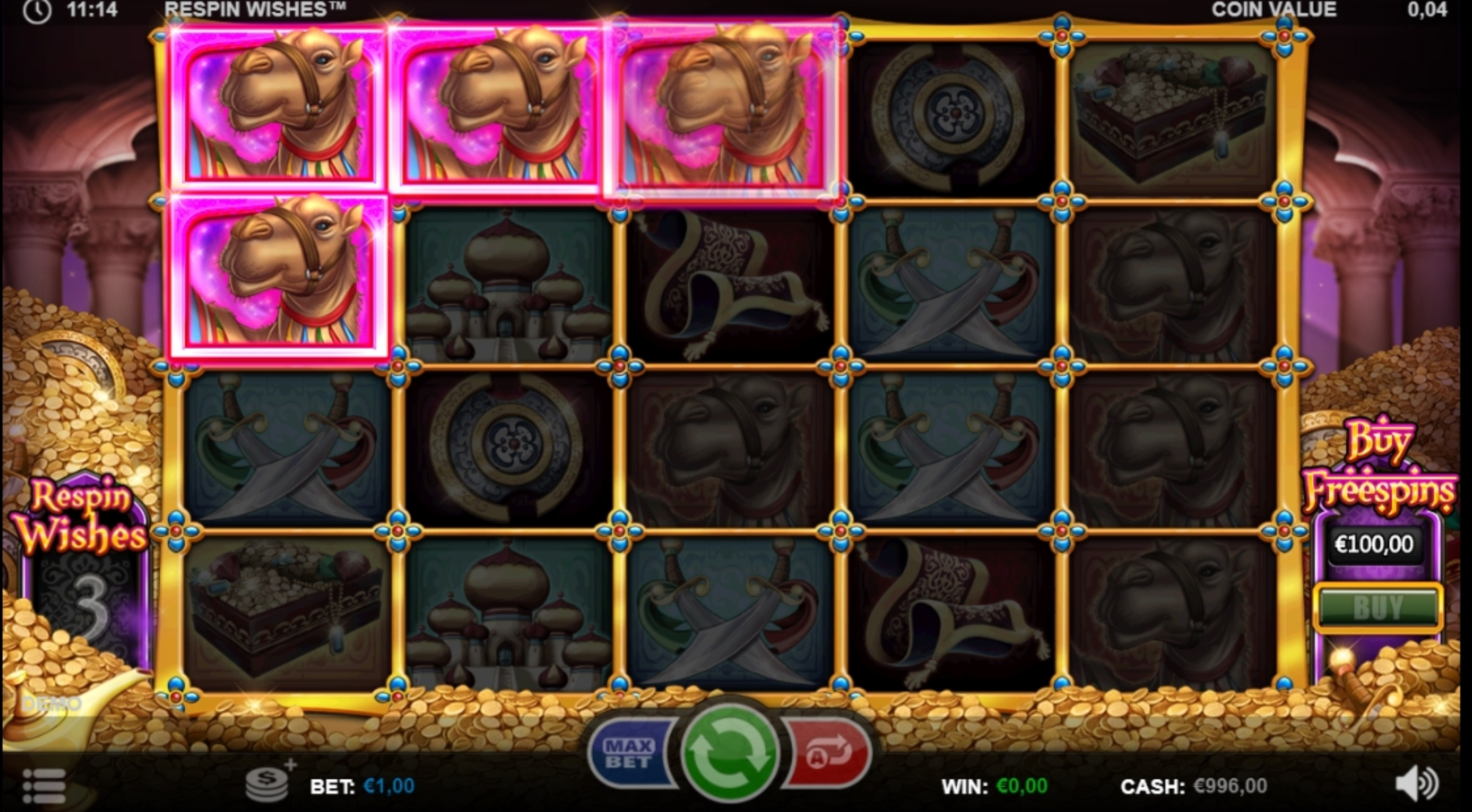 Win Money in Respin Wishes Free Slot Game by Games Inc