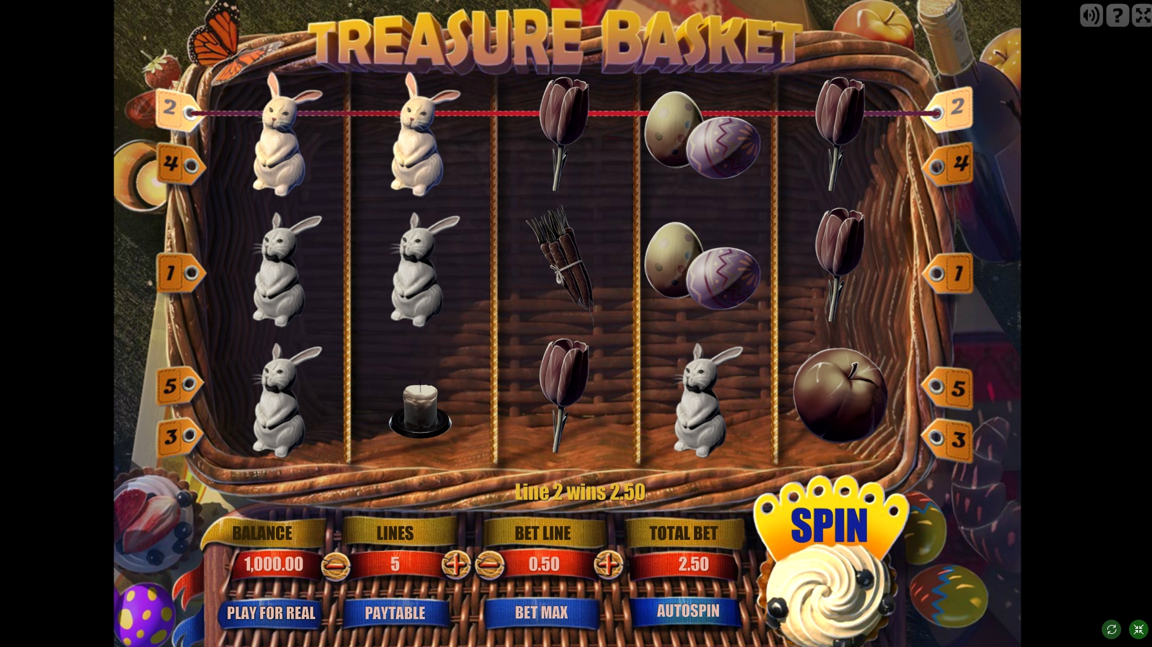 Win Money in Treasure Basket Free Slot Game by Gamescale Software