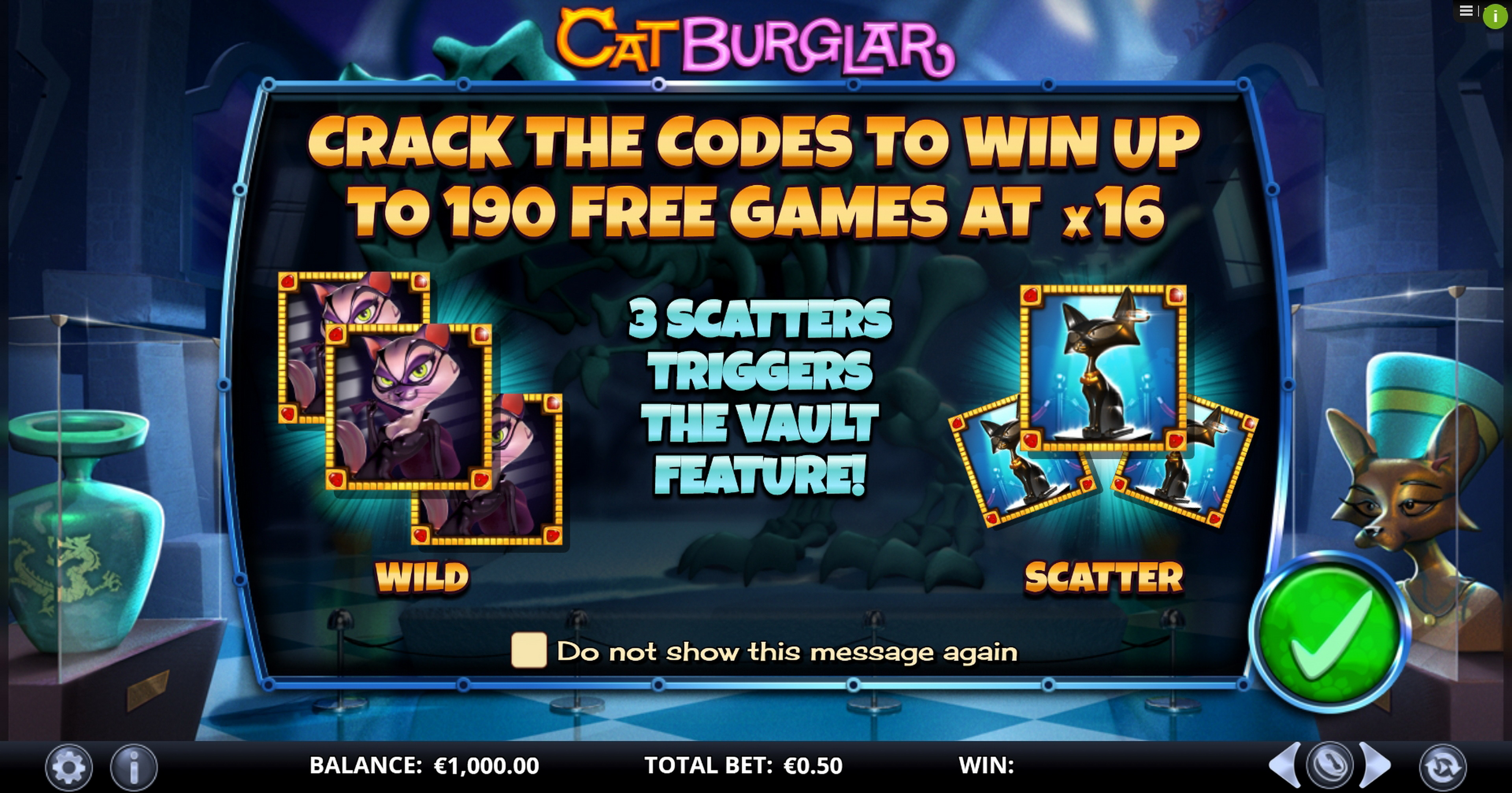 Play Cat Burglar Free Casino Slot Game by GamesLab