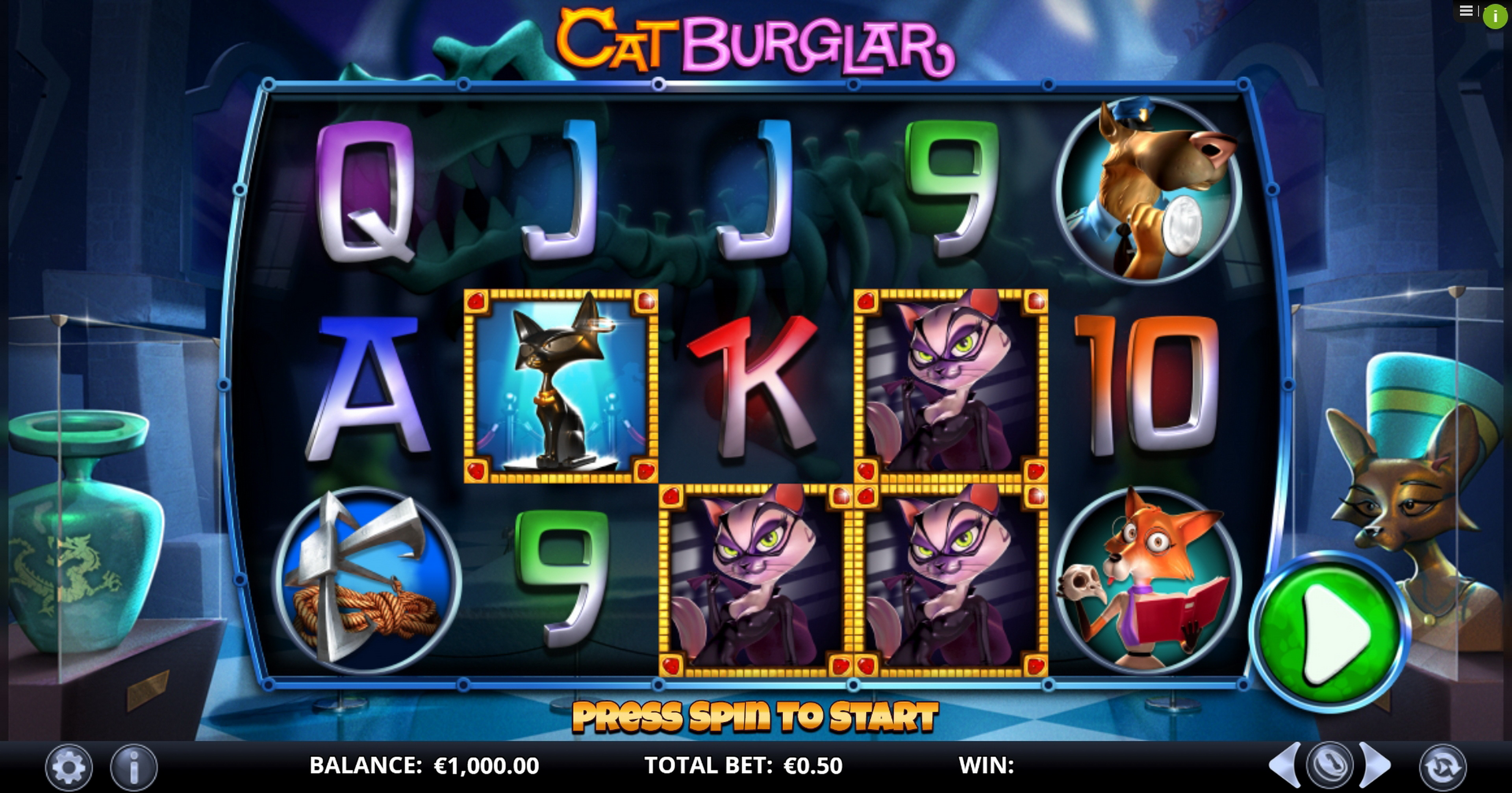 Reels in Cat Burglar Slot Game by GamesLab