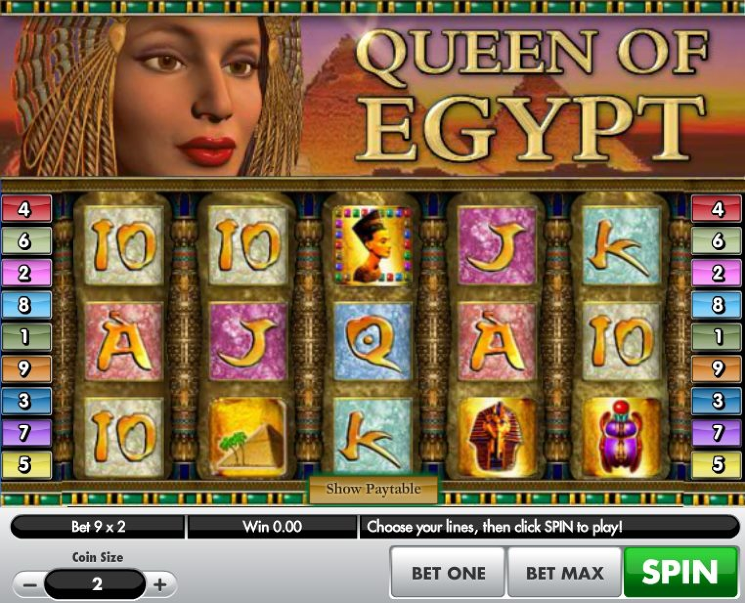 The Queen of Egypt 2019 Online Slot Demo Game by Gamesys