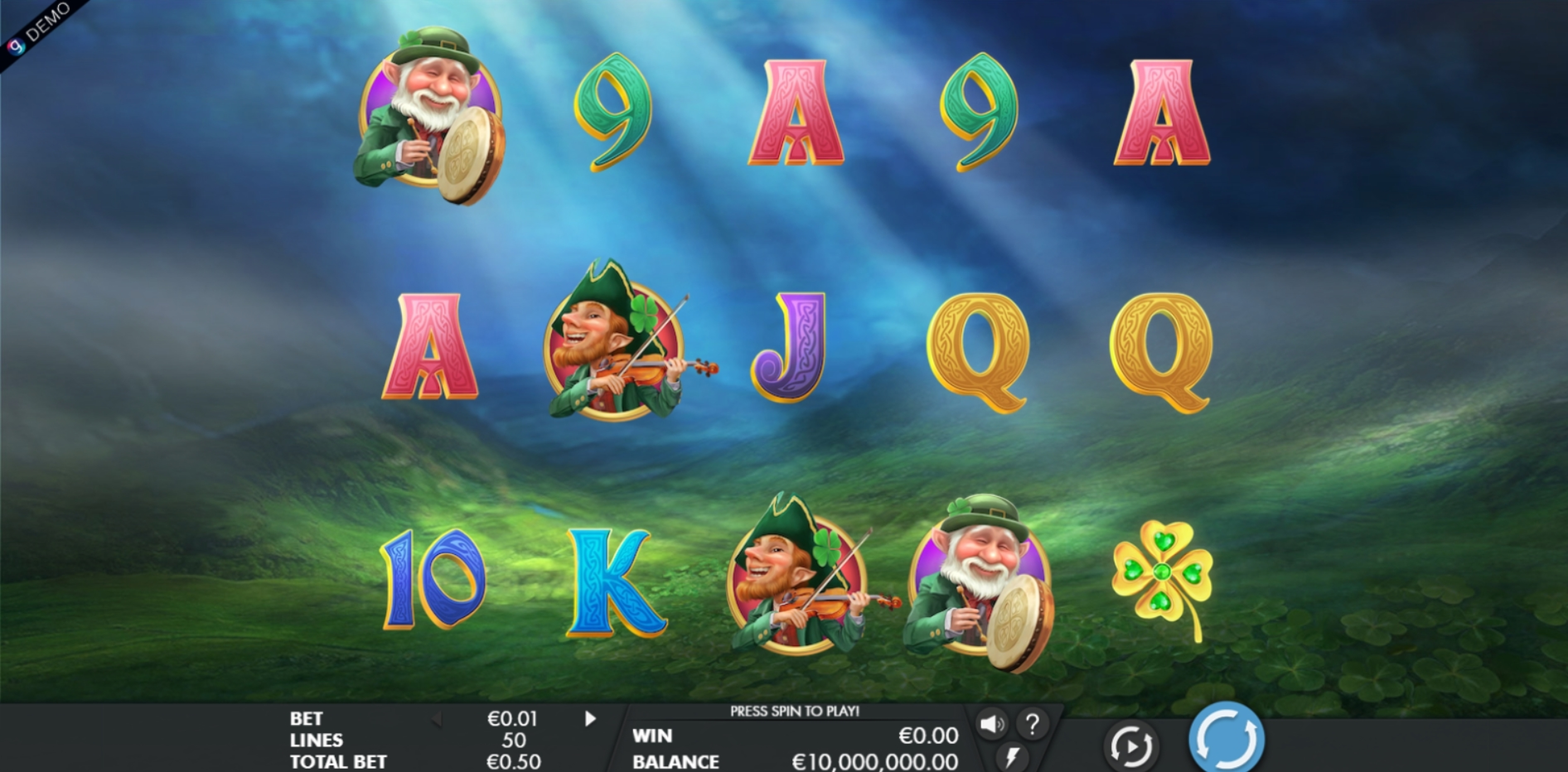 Reels in Leprechaun Legends Slot Game by Genesis