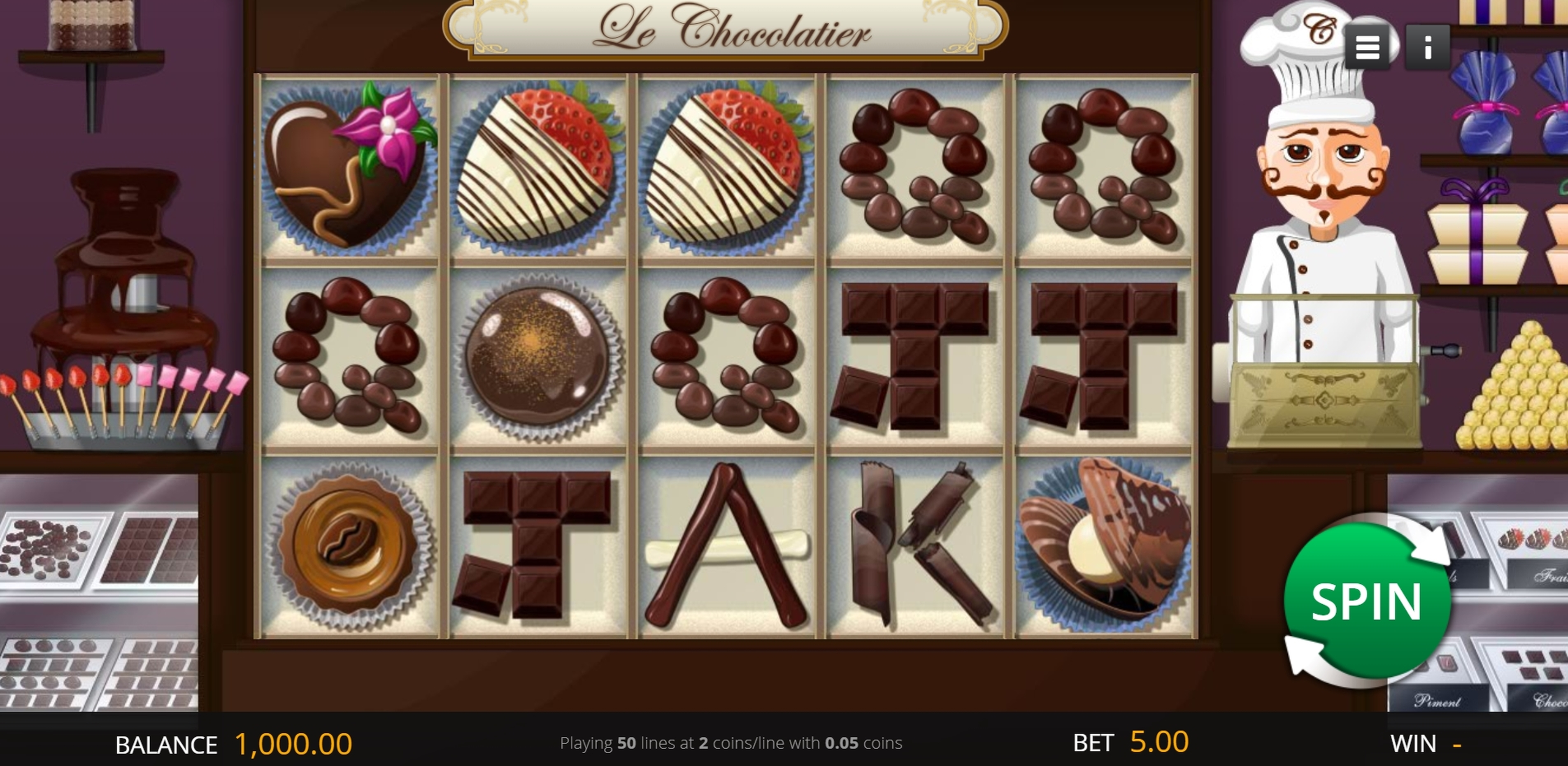 Reels in Le Chocolatier (Genii) Slot Game by Genii