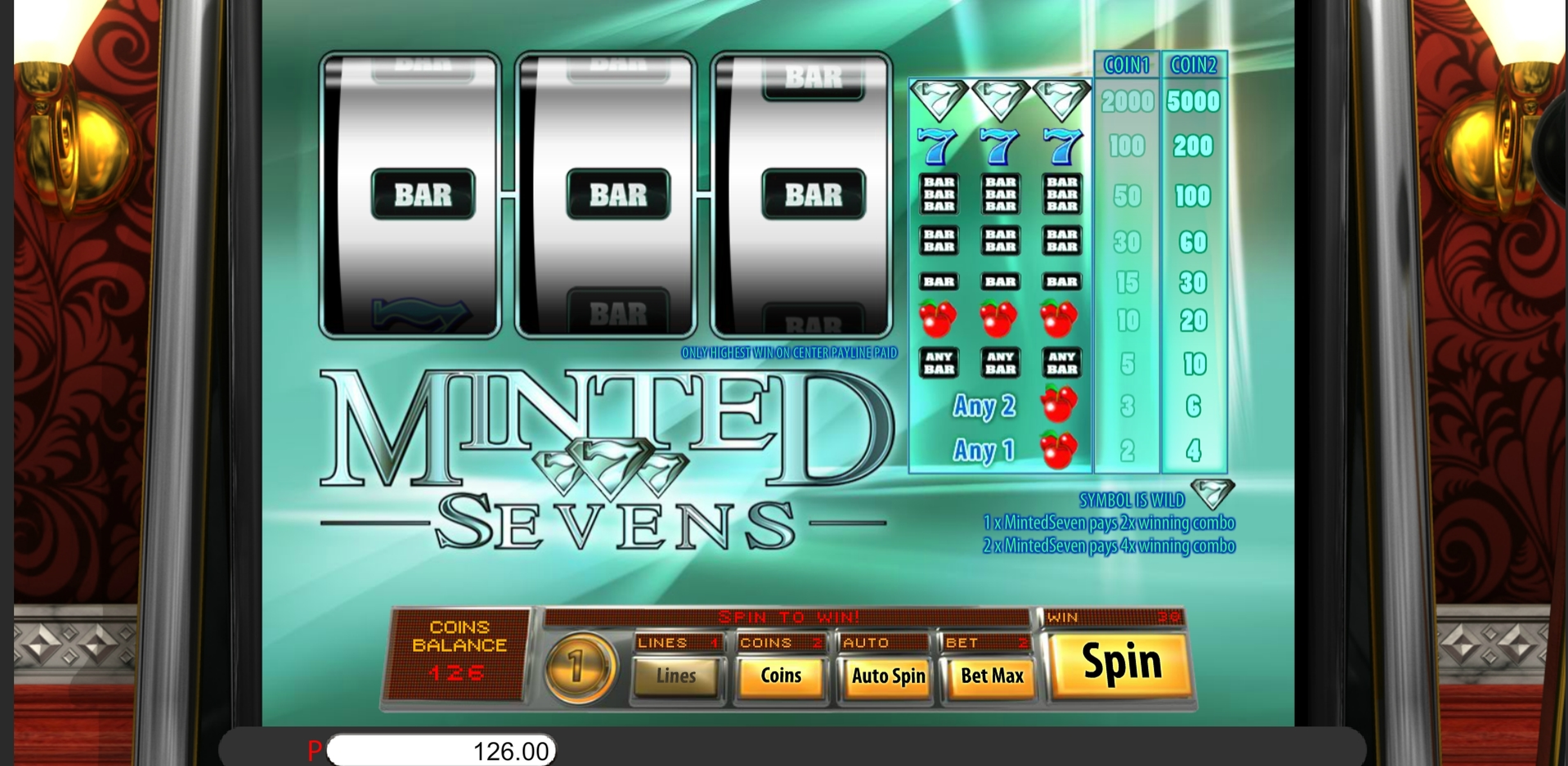 Reels in Minted Sevens Slot Game by Genii