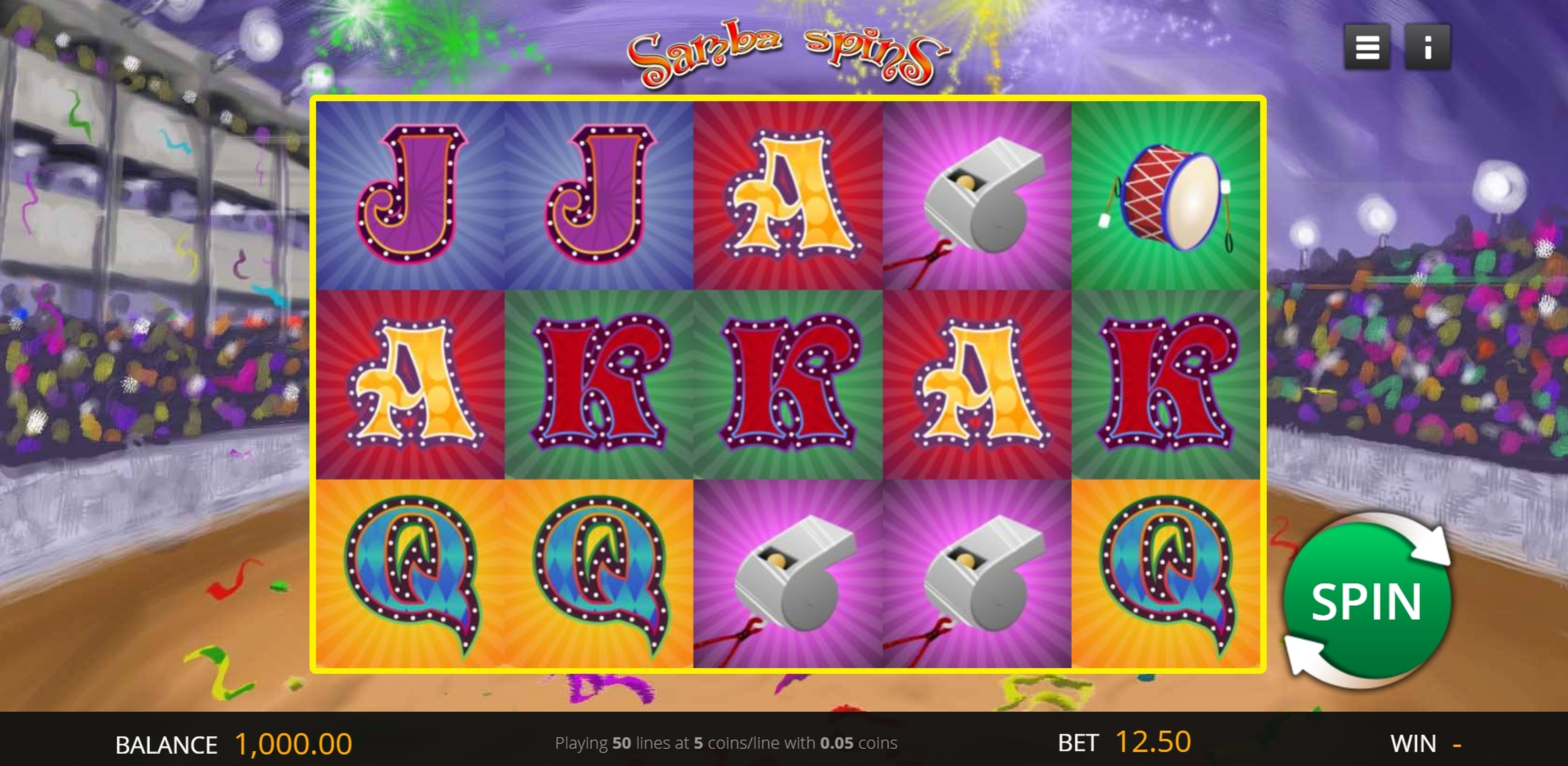 Reels in Samba Spins Slot Game by Genii