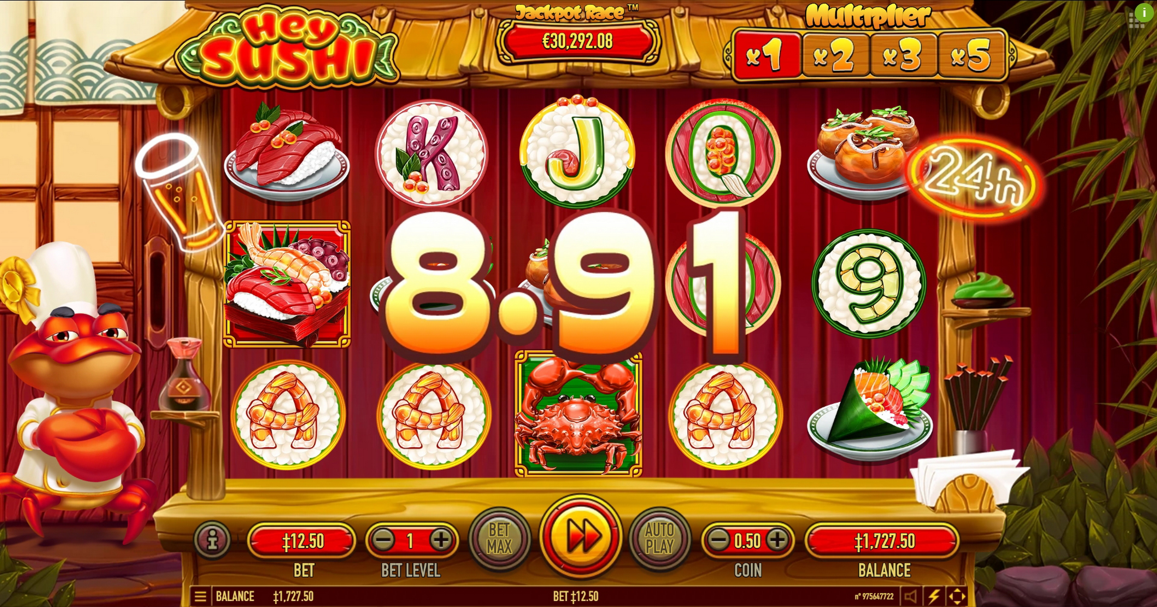 Win Money in Hey Sushi Free Slot Game by Habanero
