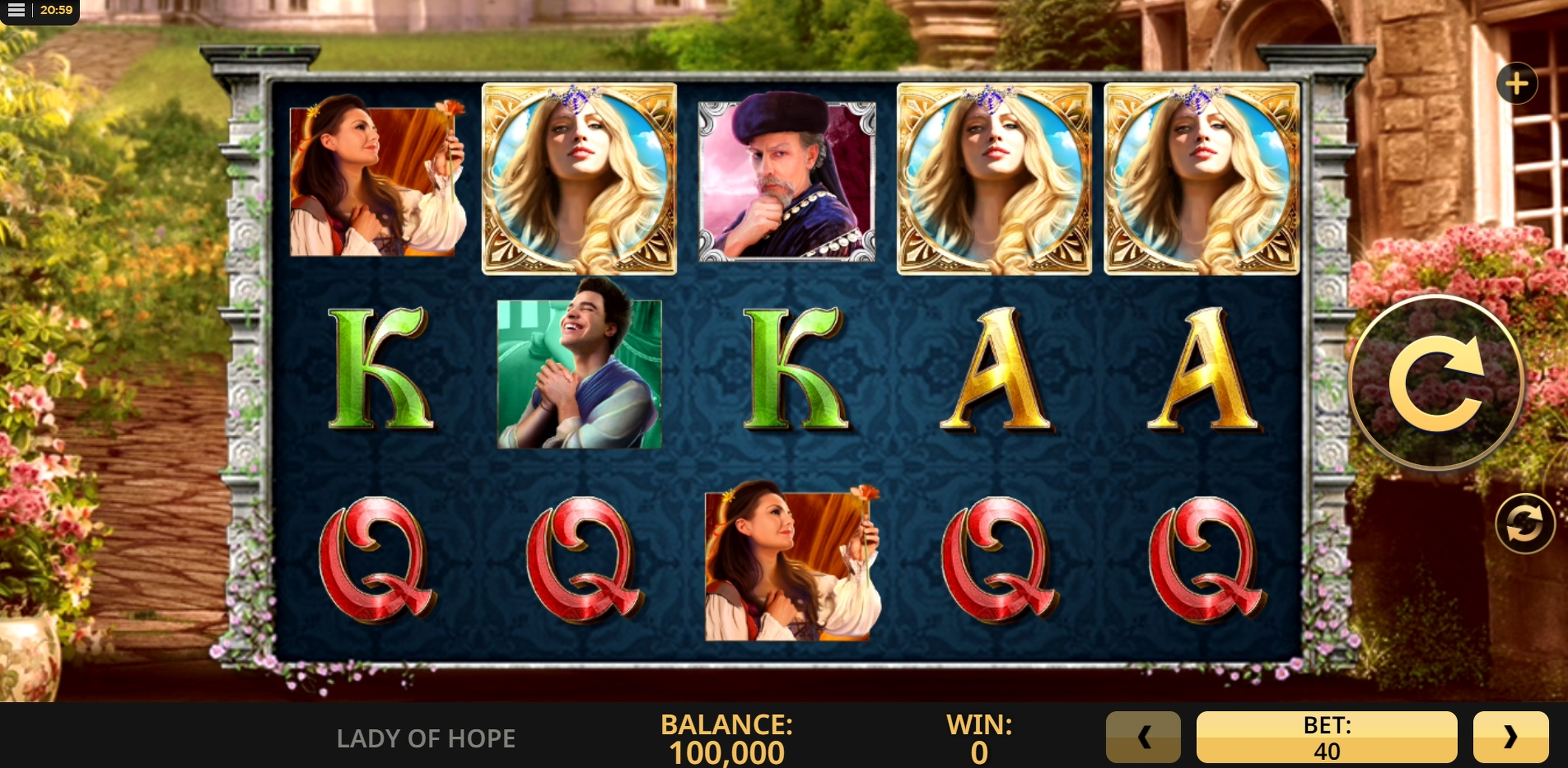 Reels in Lady of Hope Slot Game by High 5 Games