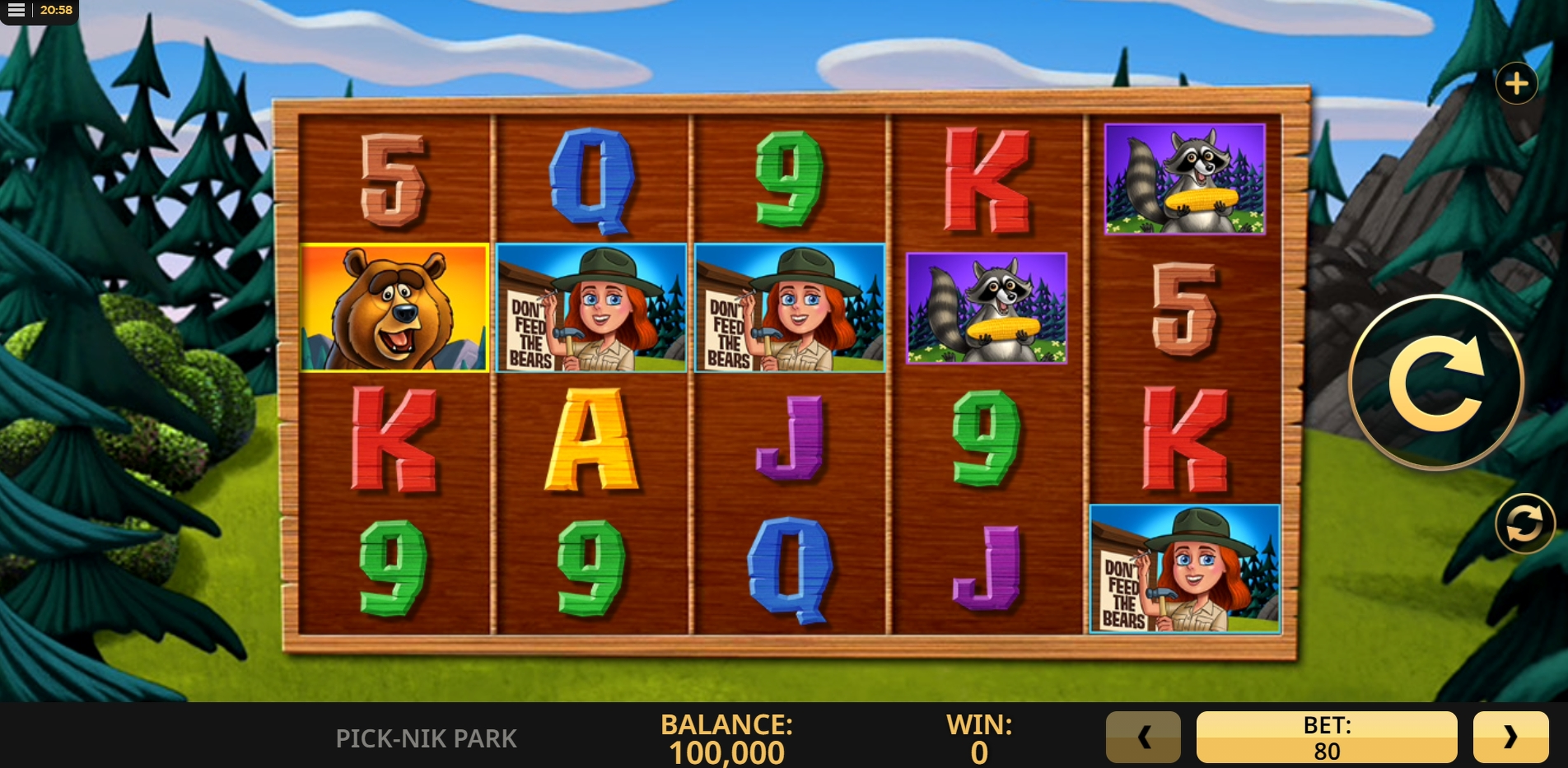 Reels in Pick-Nik Park Slot Game by High 5 Games