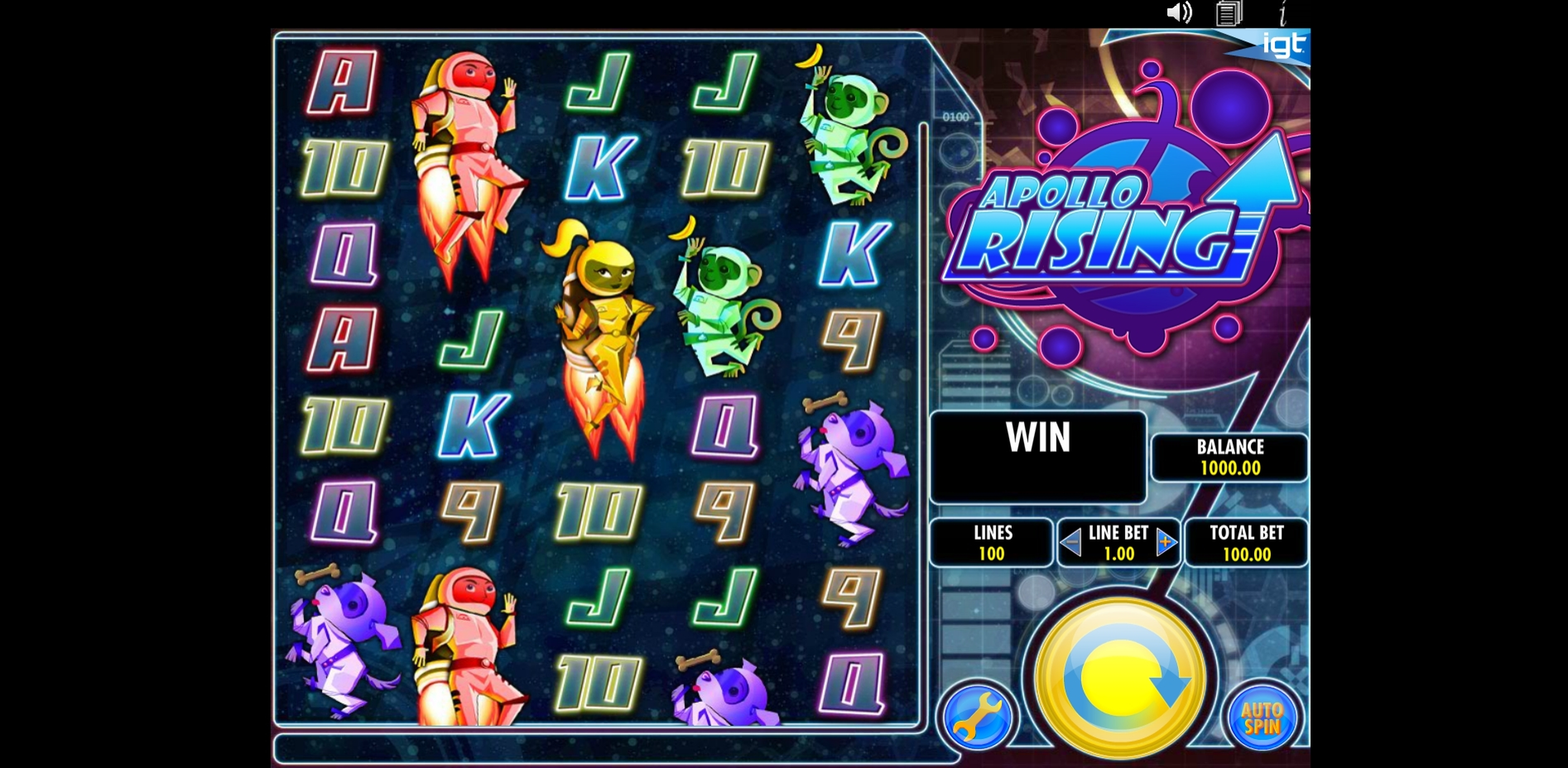 Reels in Apollo Rising Slot Game by IGT