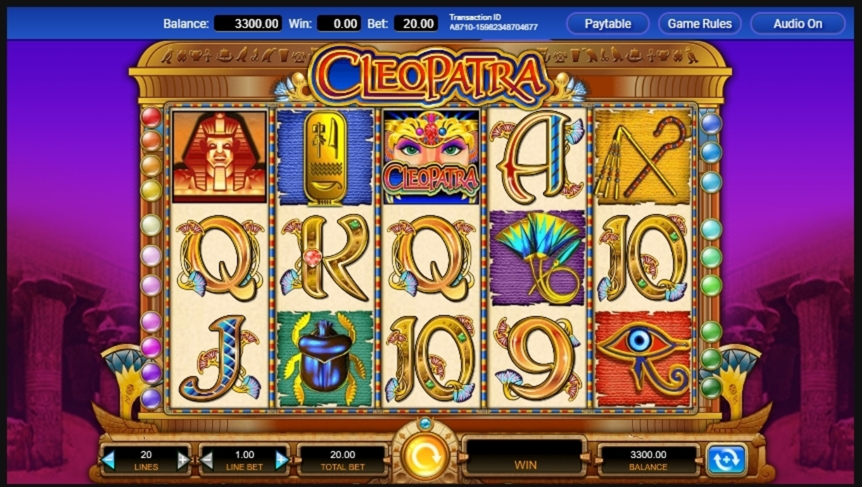 Reels in Cleopatra (IGT) Slot Game by IGT