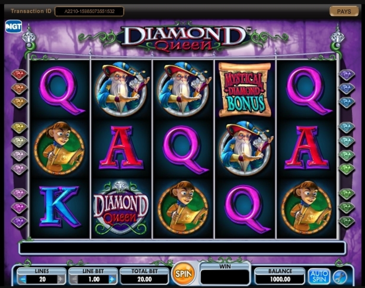 Reels in Diamond Queen Slot Game by IGT
