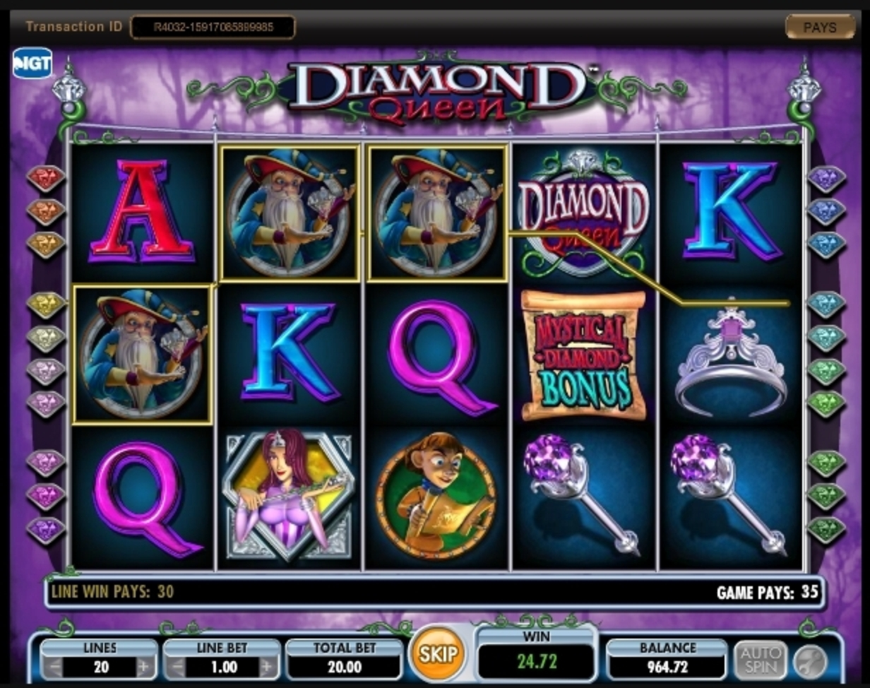 Win Money in Diamond Queen Free Slot Game by IGT