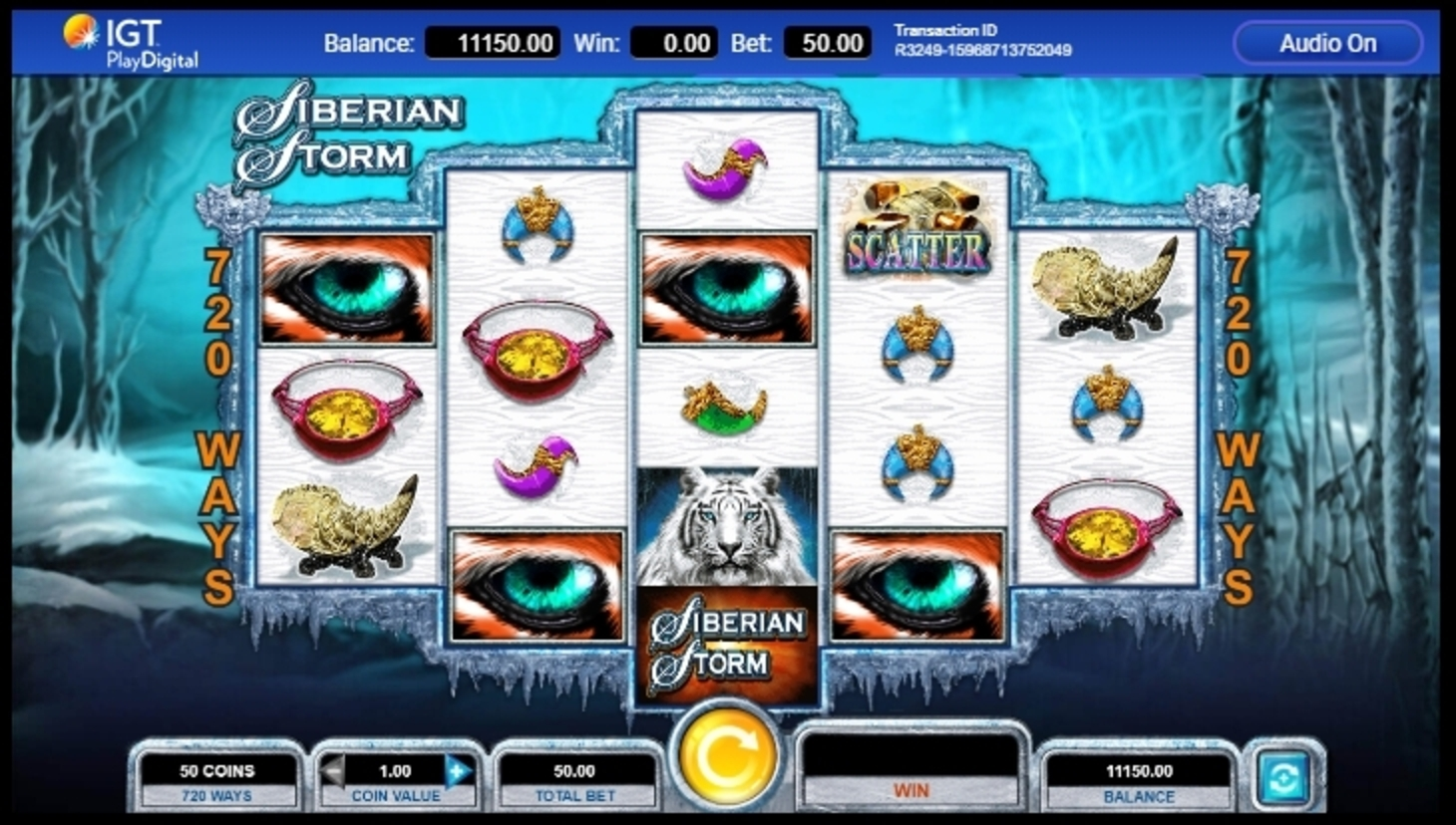 Reels in Siberian Storm Slot Game by IGT