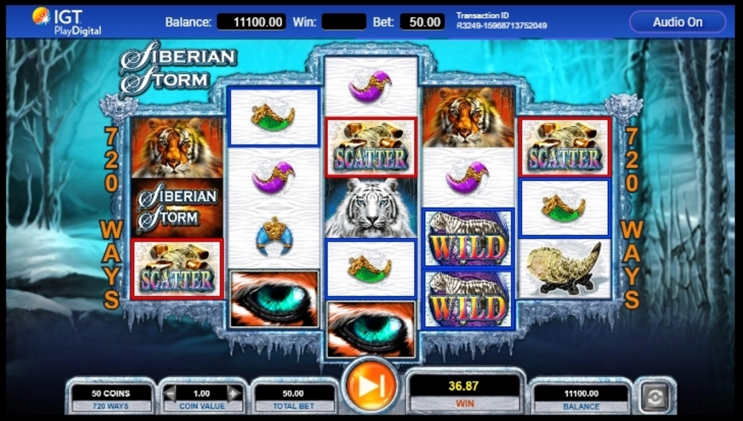 Win Money in Siberian Storm Free Slot Game by IGT