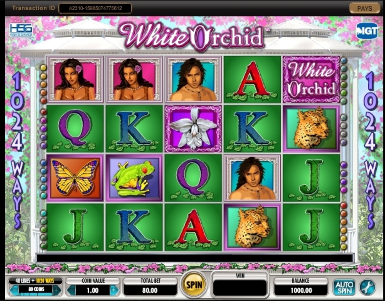 Reels in White Orchid Slot Game by IGT