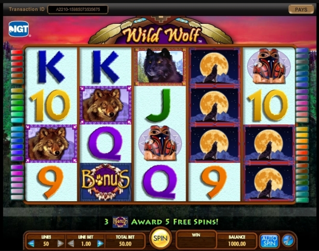 Reels in Wild Wolf (IGT) Slot Game by IGT