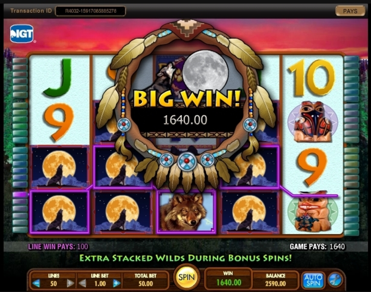 Win Money in Wild Wolf (IGT) Free Slot Game by IGT