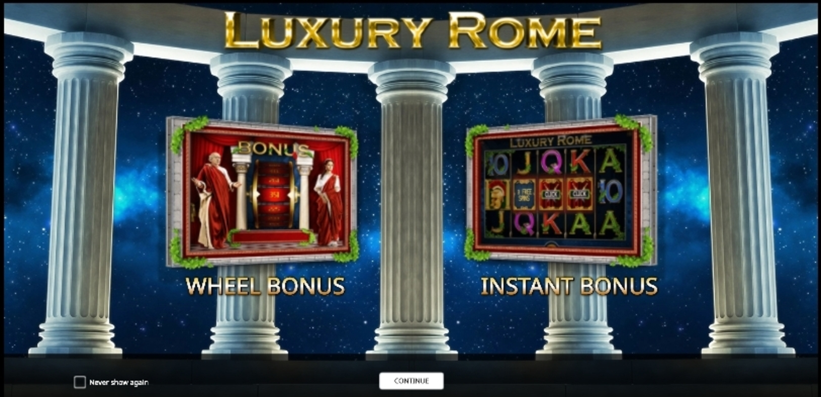 Play Luxury Rome Free Casino Slot Game by iSoftBet