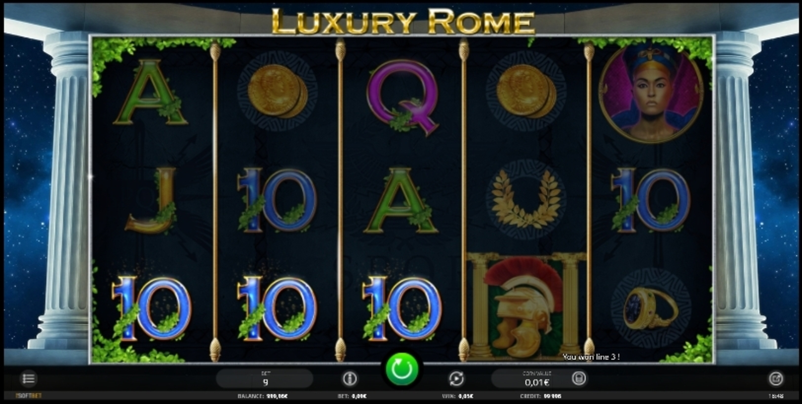Win Money in Luxury Rome Free Slot Game by iSoftBet
