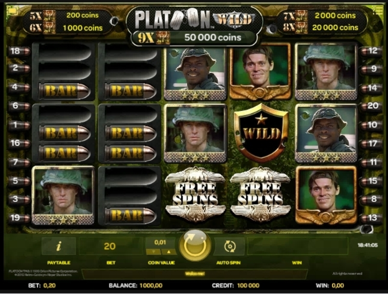 Reels in Platoon Wild Slot Game by iSoftBet