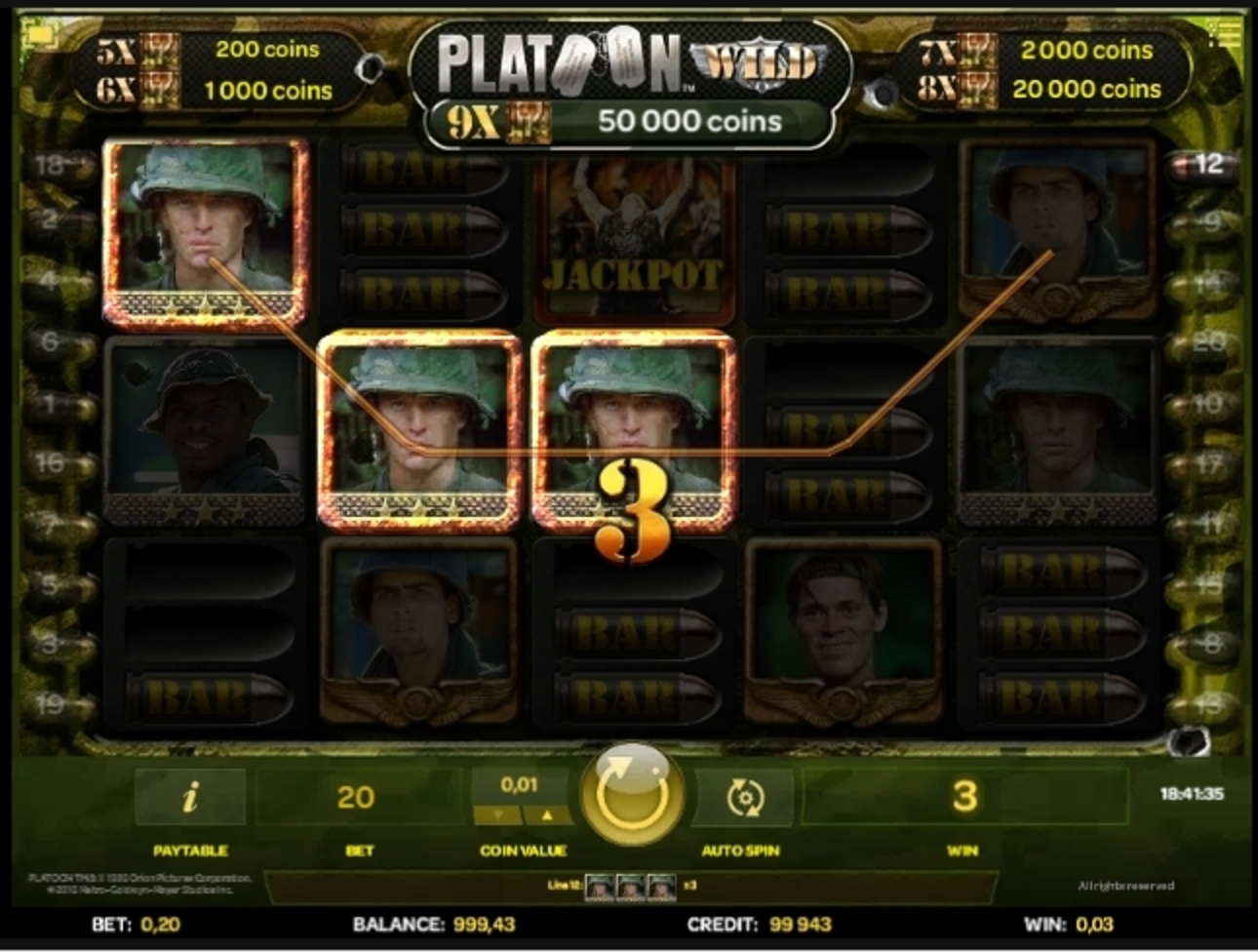 Win Money in Platoon Wild Free Slot Game by iSoftBet