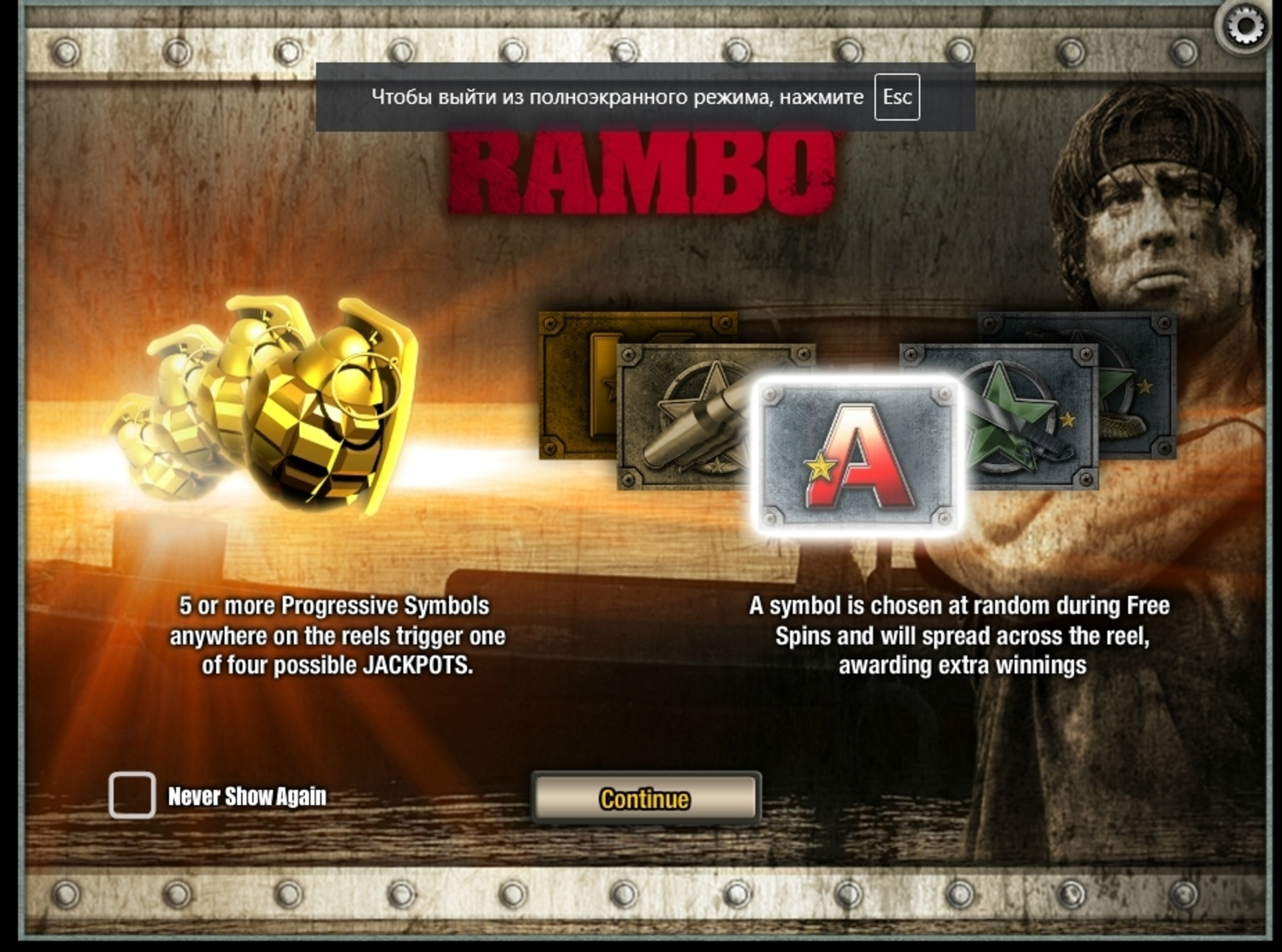 Play Rambo (iSoftBet) Free Casino Slot Game by iSoftBet