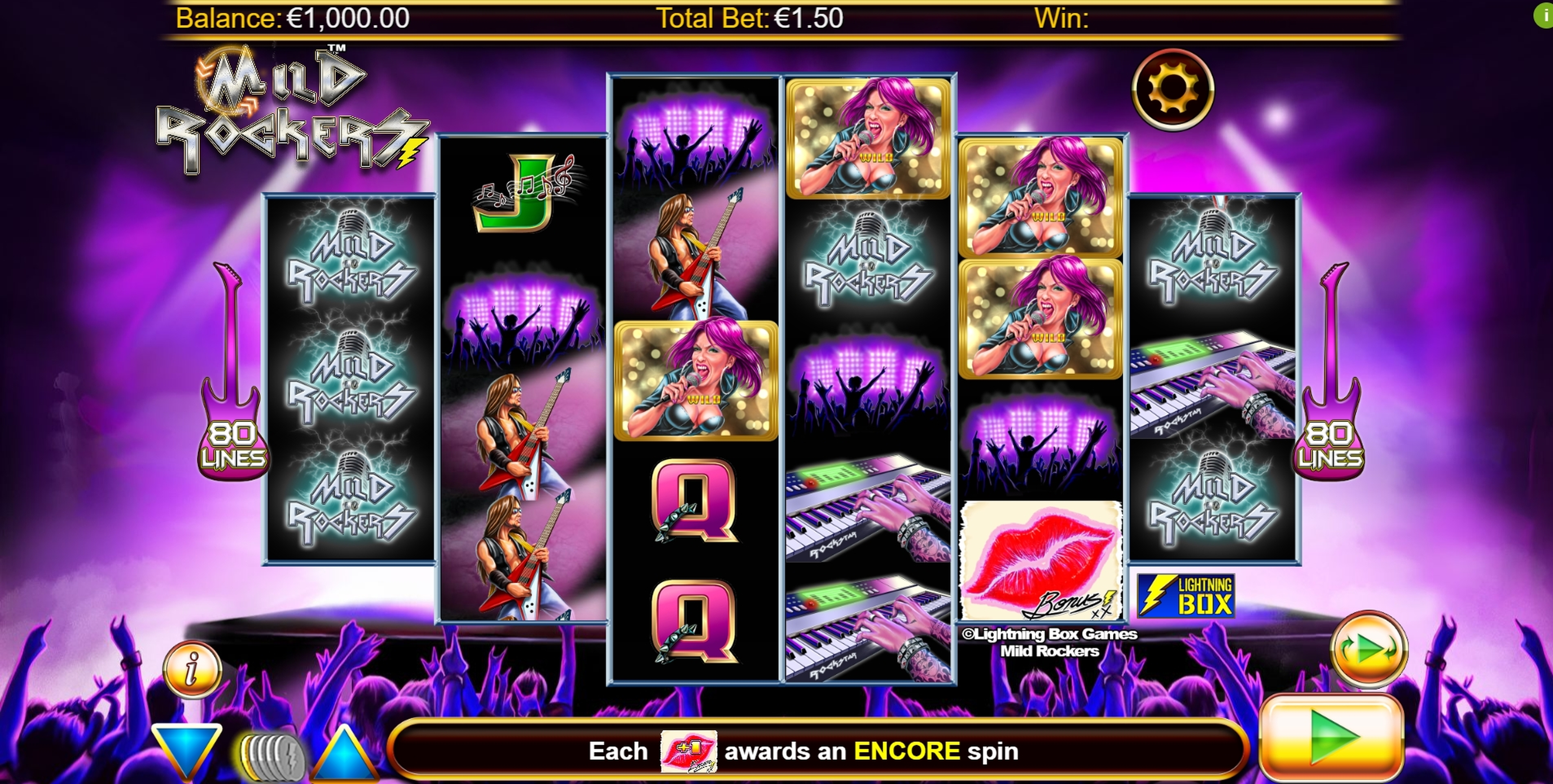 Reels in Mild Rockers Slot Game by Lightning Box