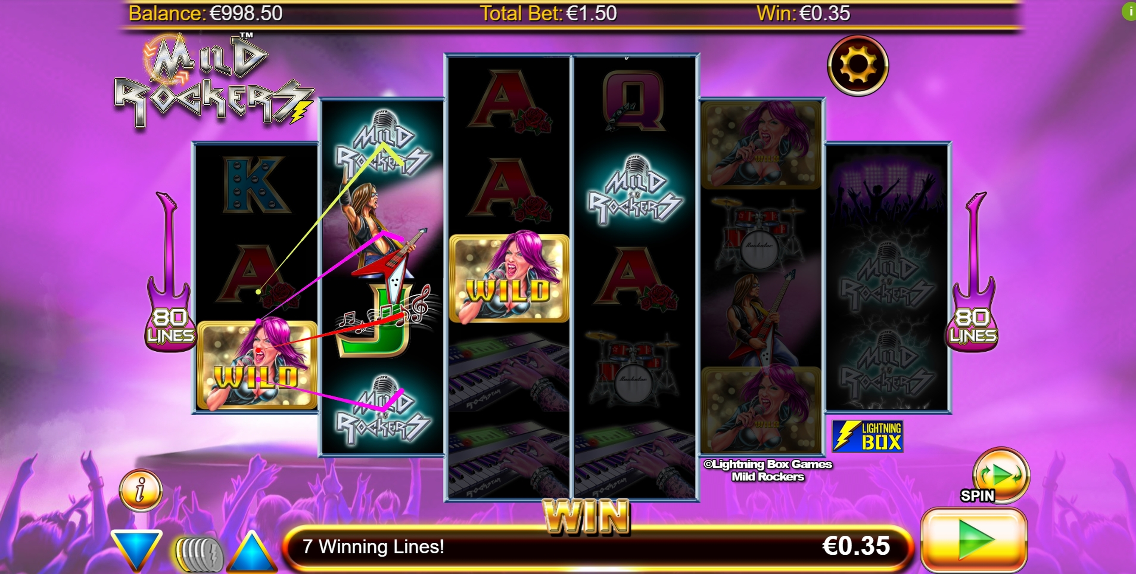 Win Money in Mild Rockers Free Slot Game by Lightning Box
