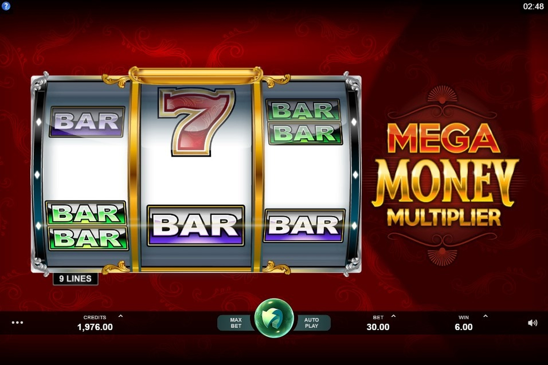 The Mega Money Multiplier Online Slot Demo Game by MahiGaming