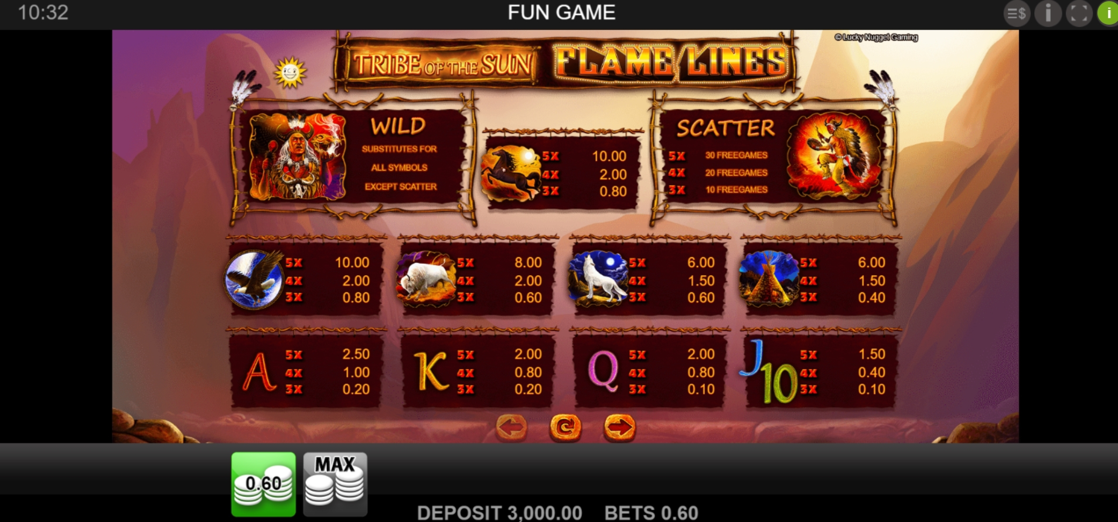 Info of Tribe Of The Sun Slot Game by Merkur Gaming
