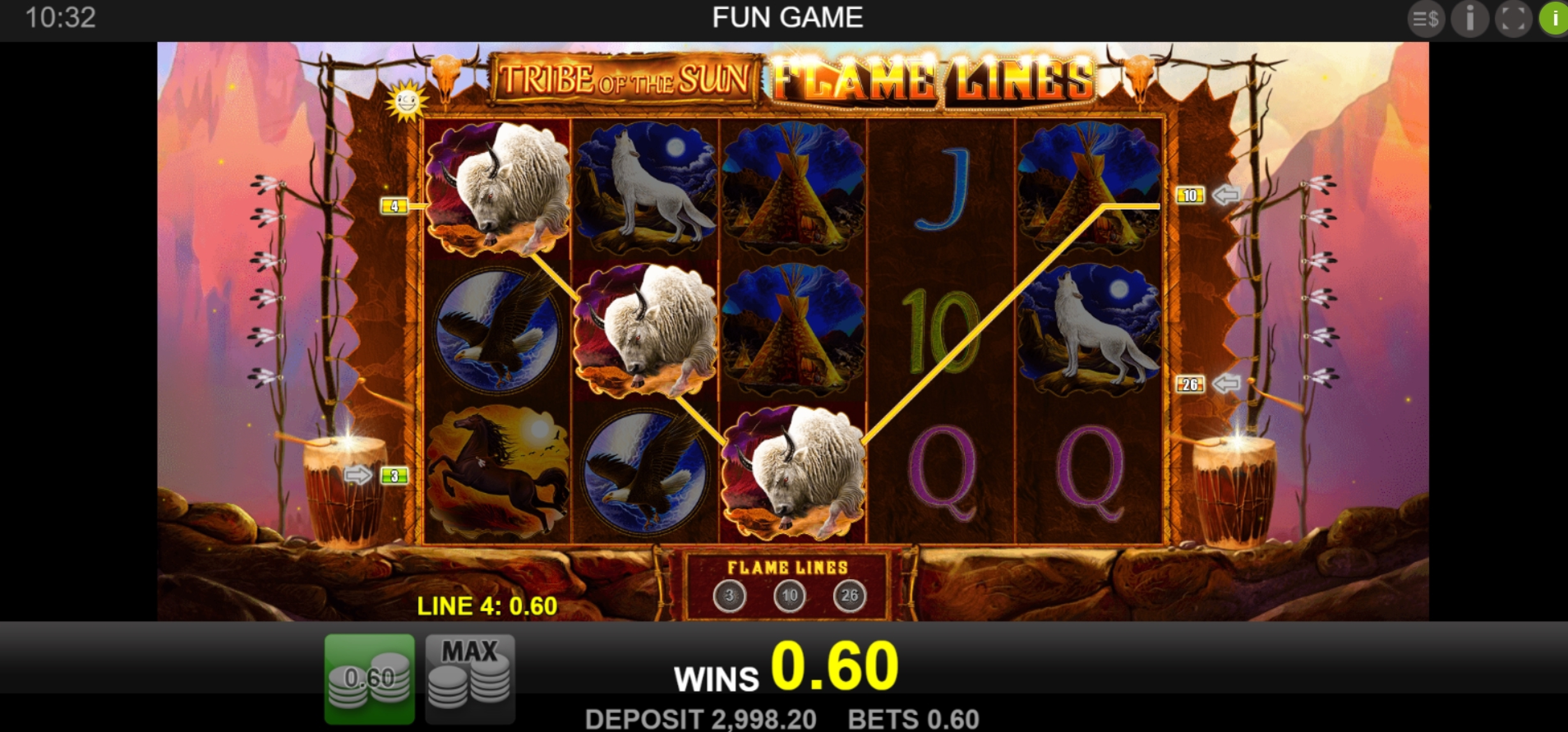 Win Money in Tribe Of The Sun Free Slot Game by Merkur Gaming