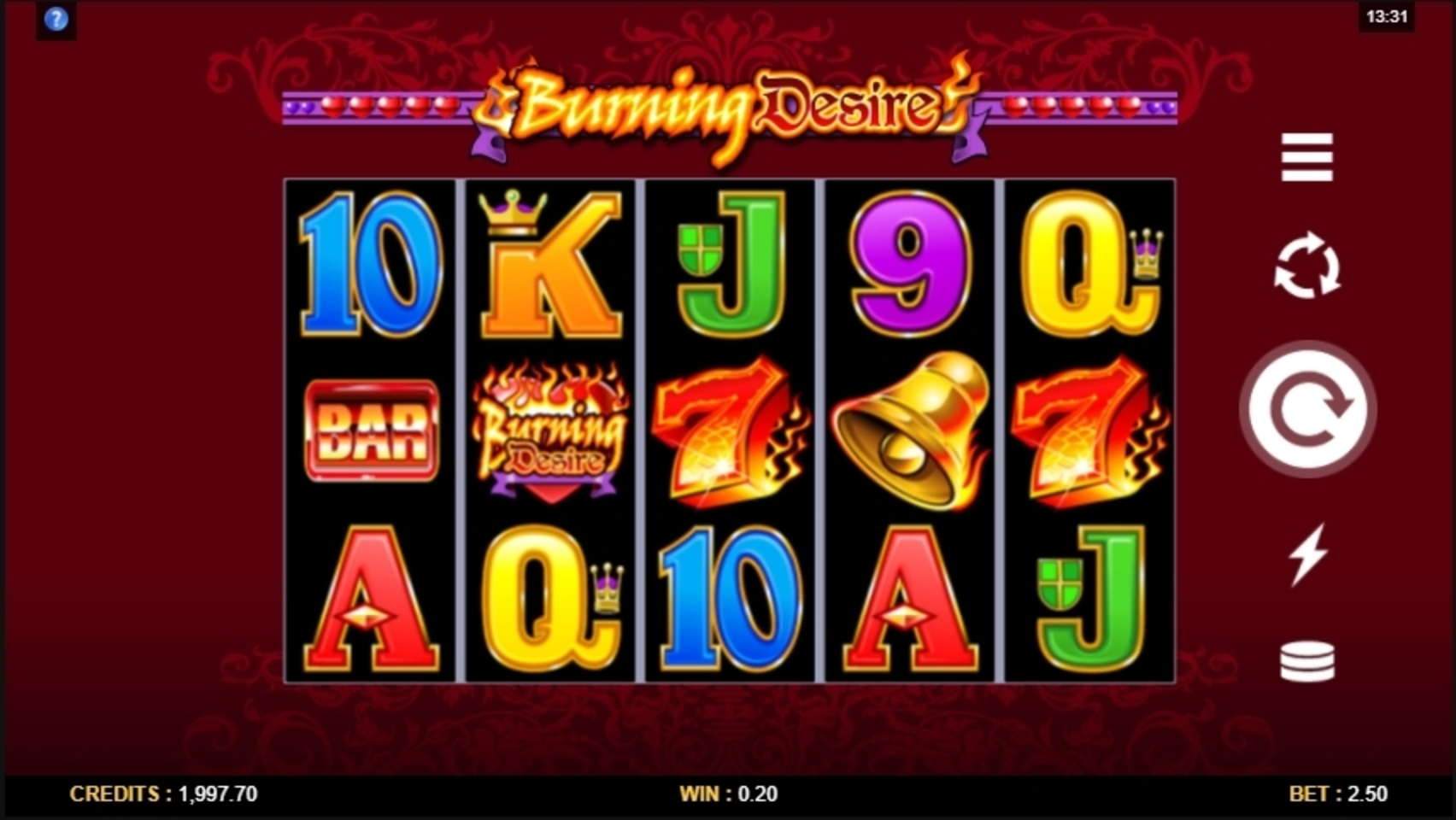 Win Money in Burning Desire Free Slot Game by Microgaming