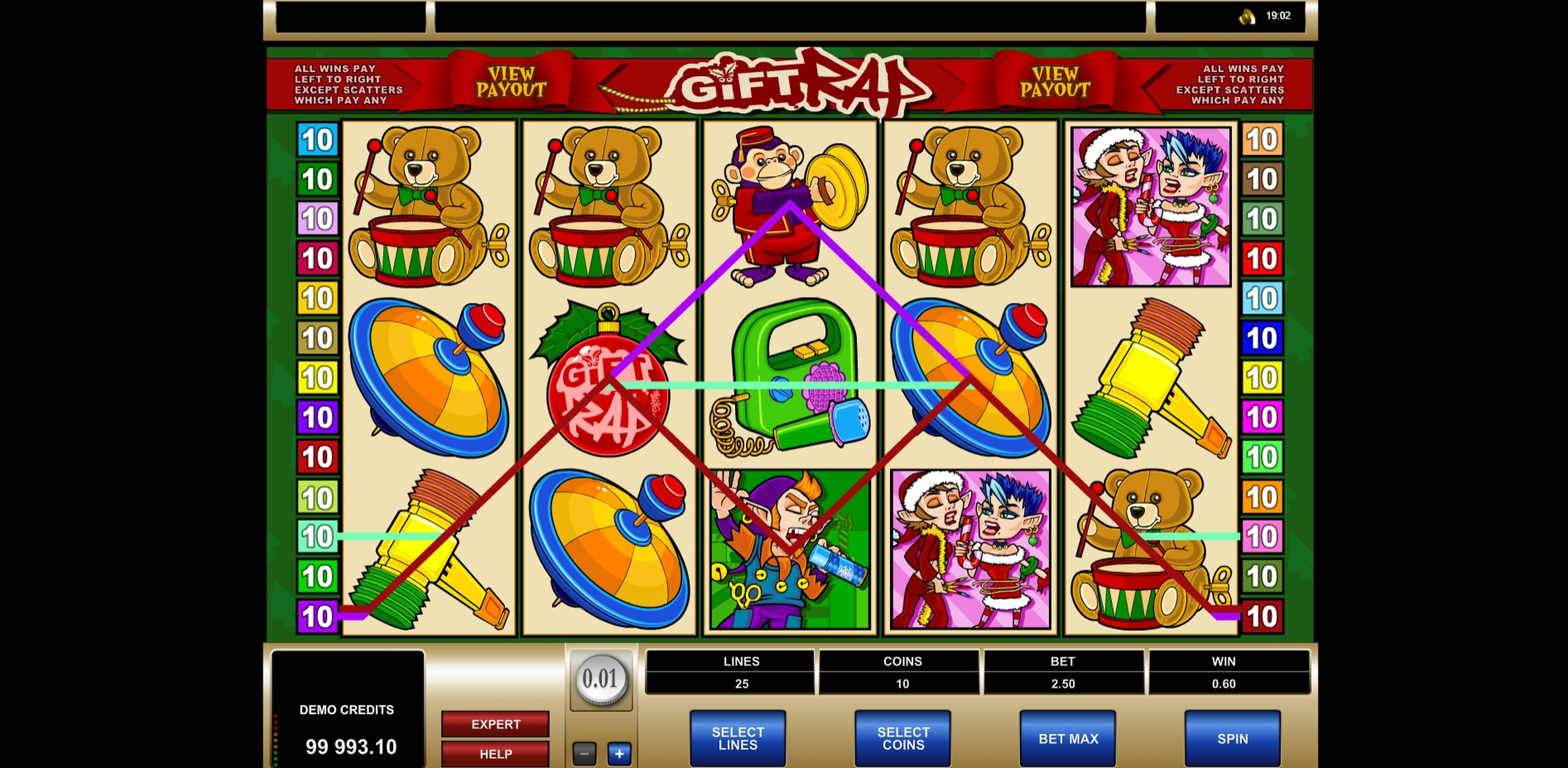 Win Money in Gift Rap Free Slot Game by Microgaming