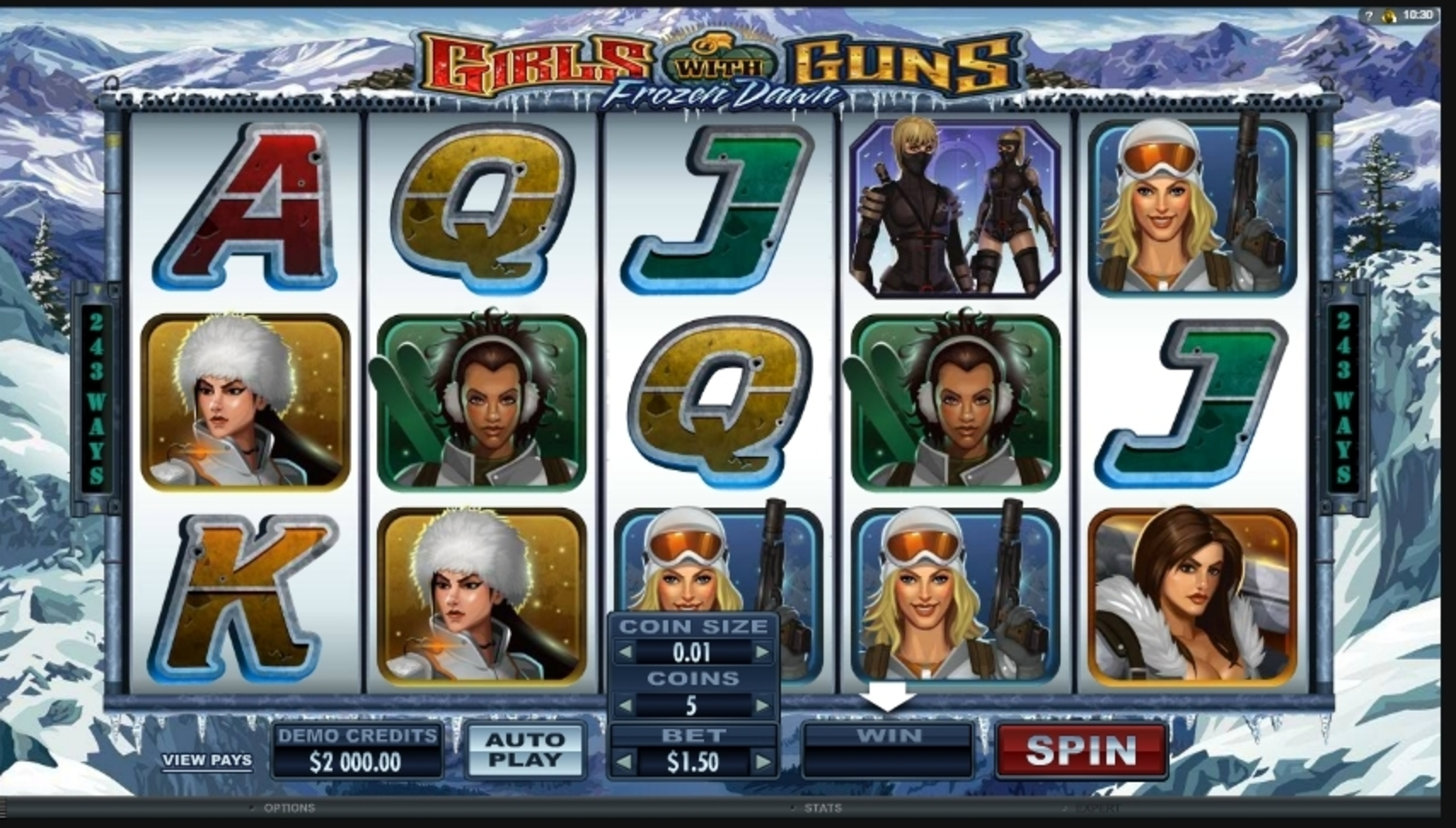 Reels in Girls With Guns - Frozen Dawn Slot Game by Microgaming