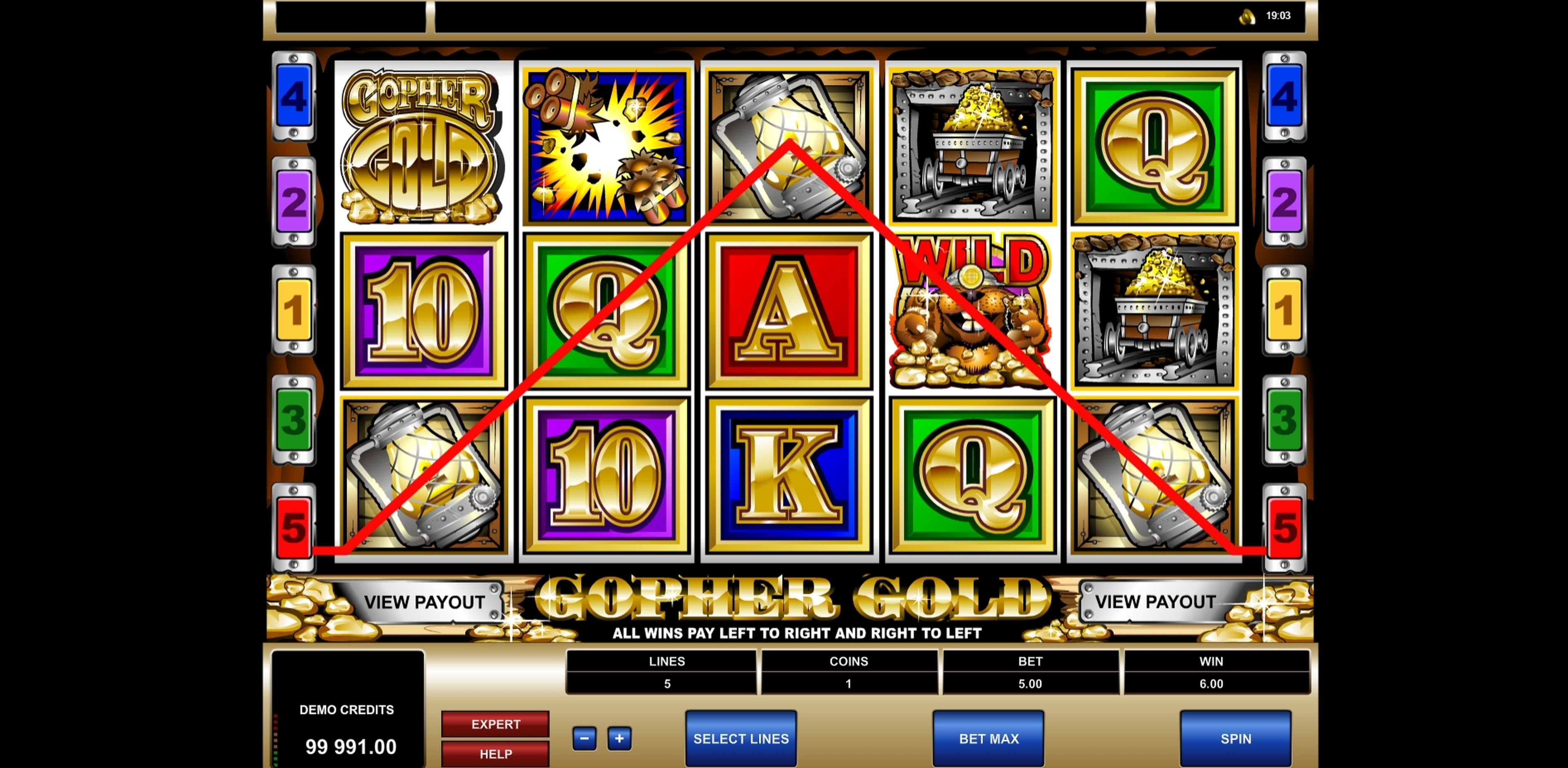 Win Money in Gopher Gold Free Slot Game by Microgaming