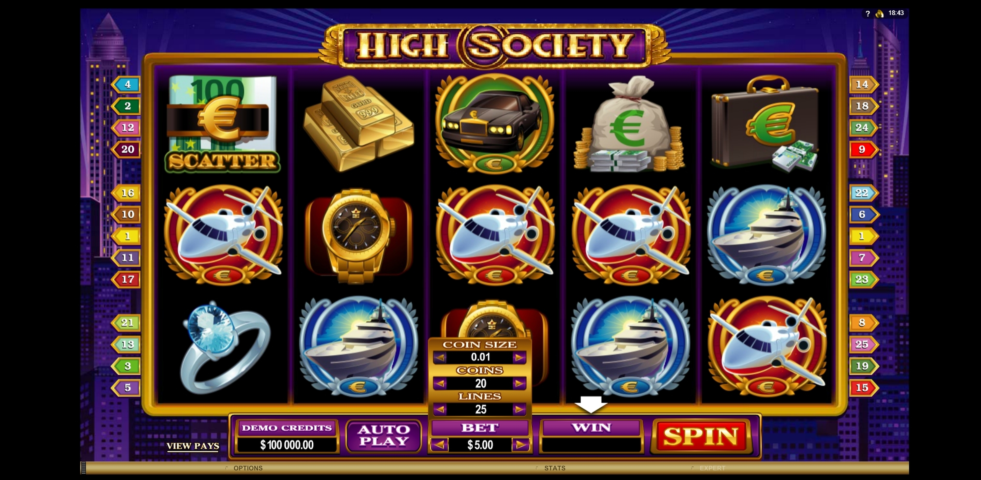 Reels in High Society Slot Game by Microgaming