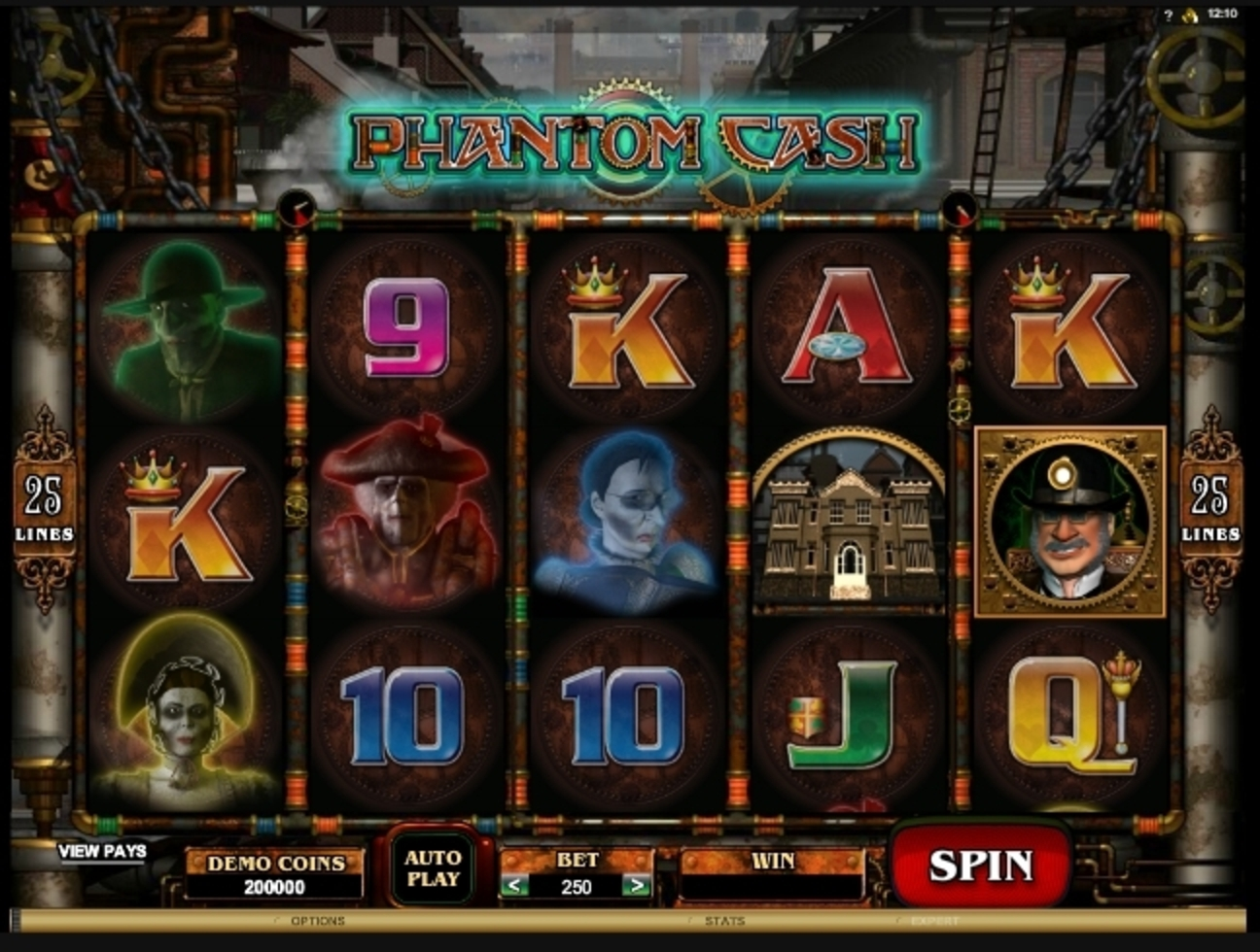 Reels in Phantom Cash Slot Game by Microgaming