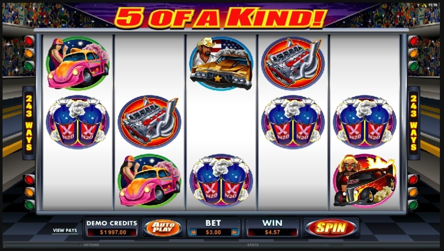 Win Money in Racing For Pinks Free Slot Game by Microgaming
