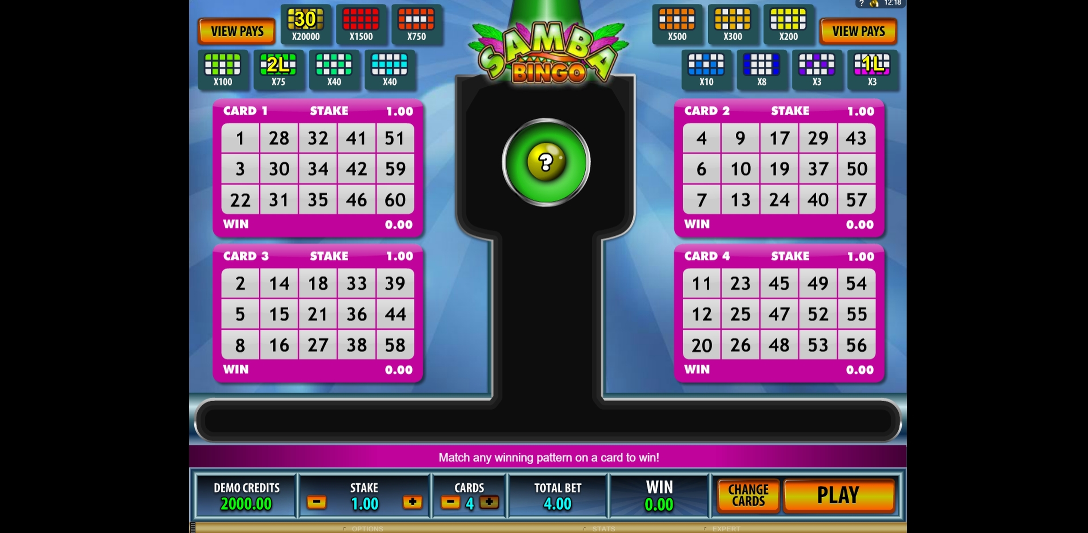 Reels in Samba Bingo Slot Game by Microgaming