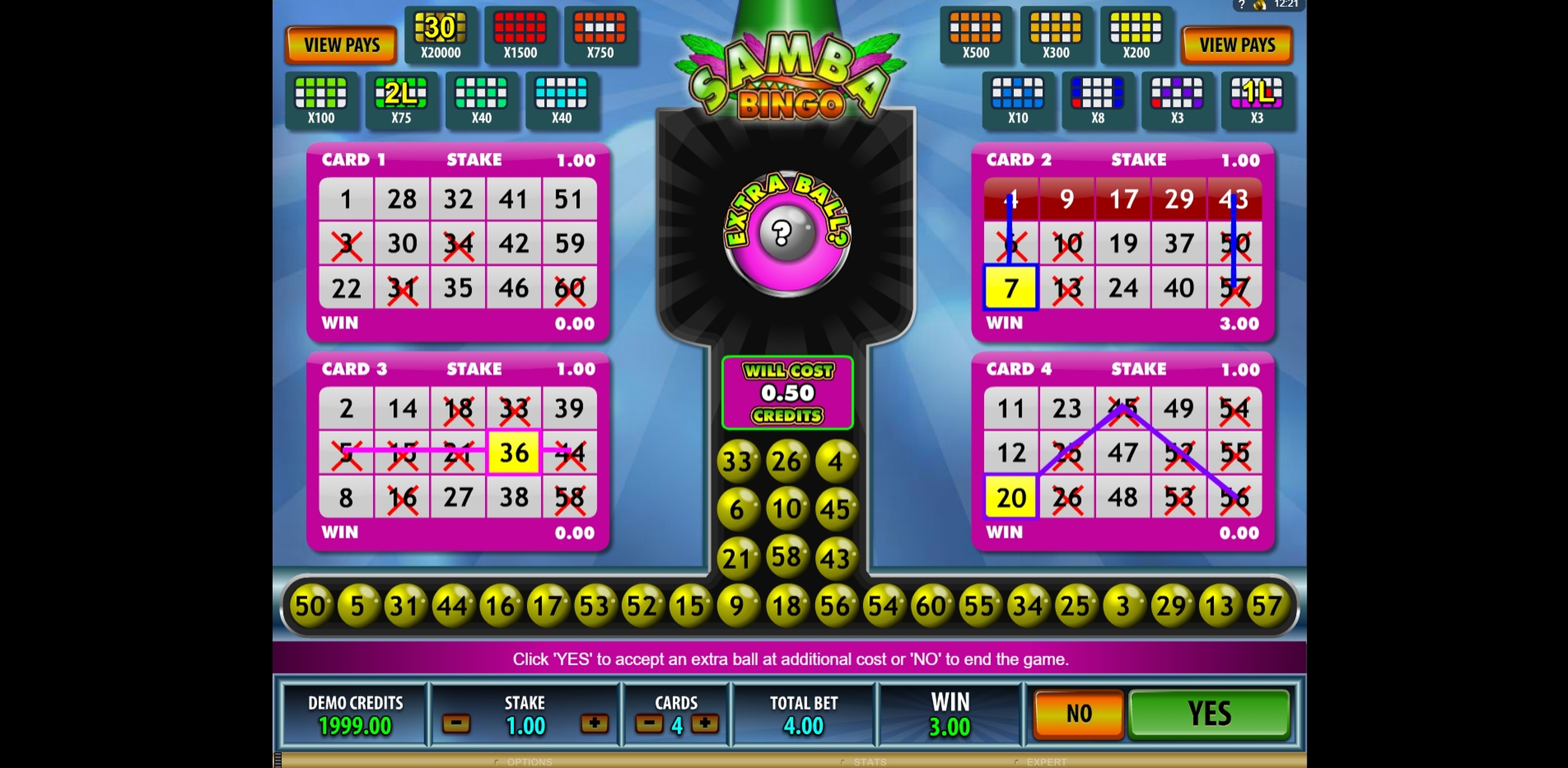 Win Money in Samba Bingo Free Slot Game by Microgaming