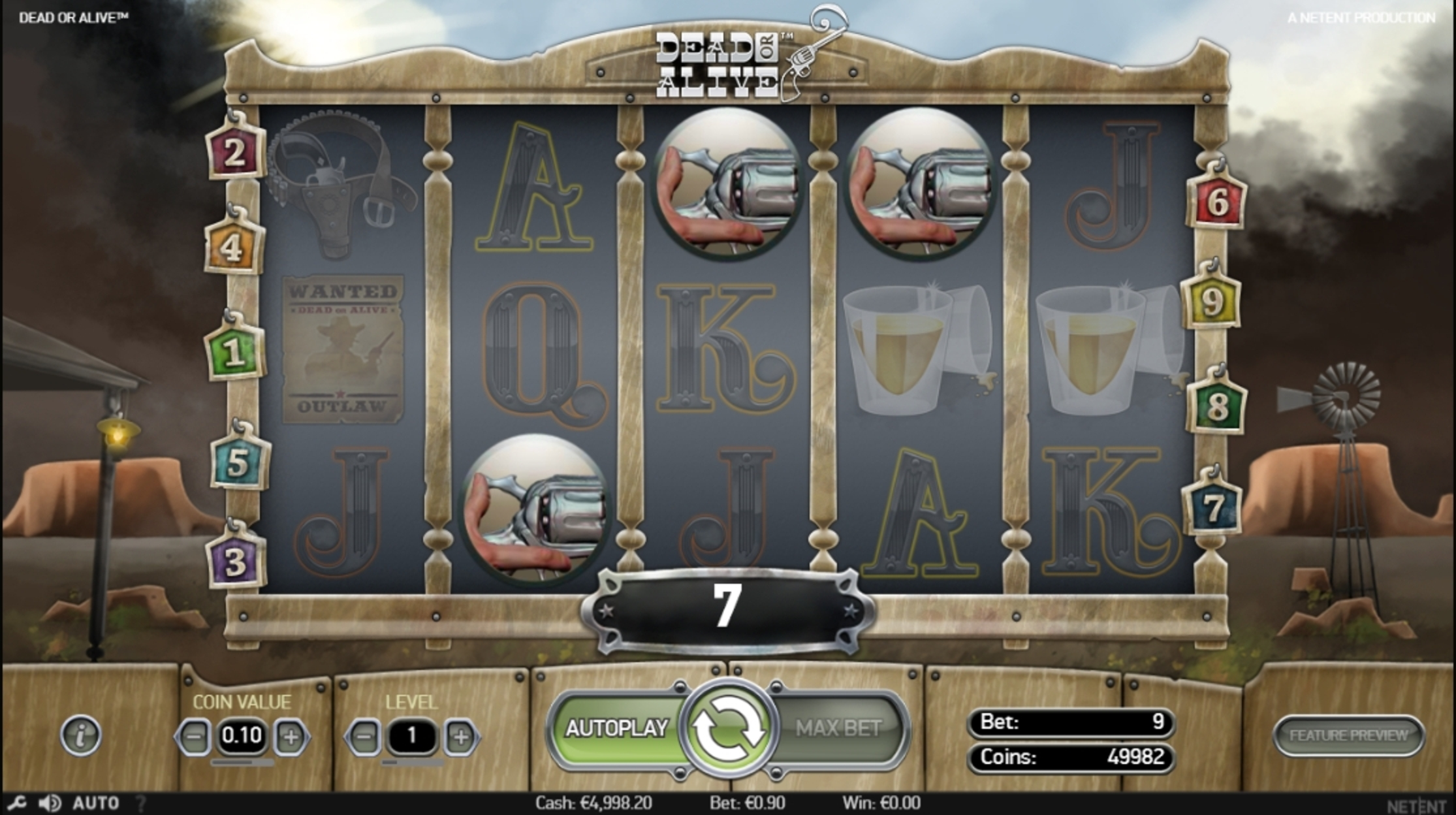 Win Money in Dead or Alive Free Slot Game by NetEnt
