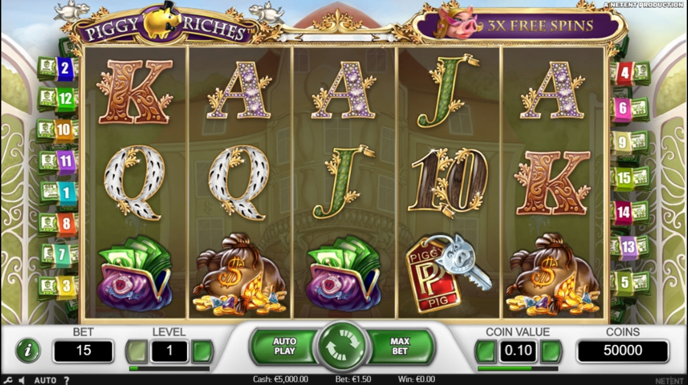 Reels in Piggy Riches Slot Game by NetEnt