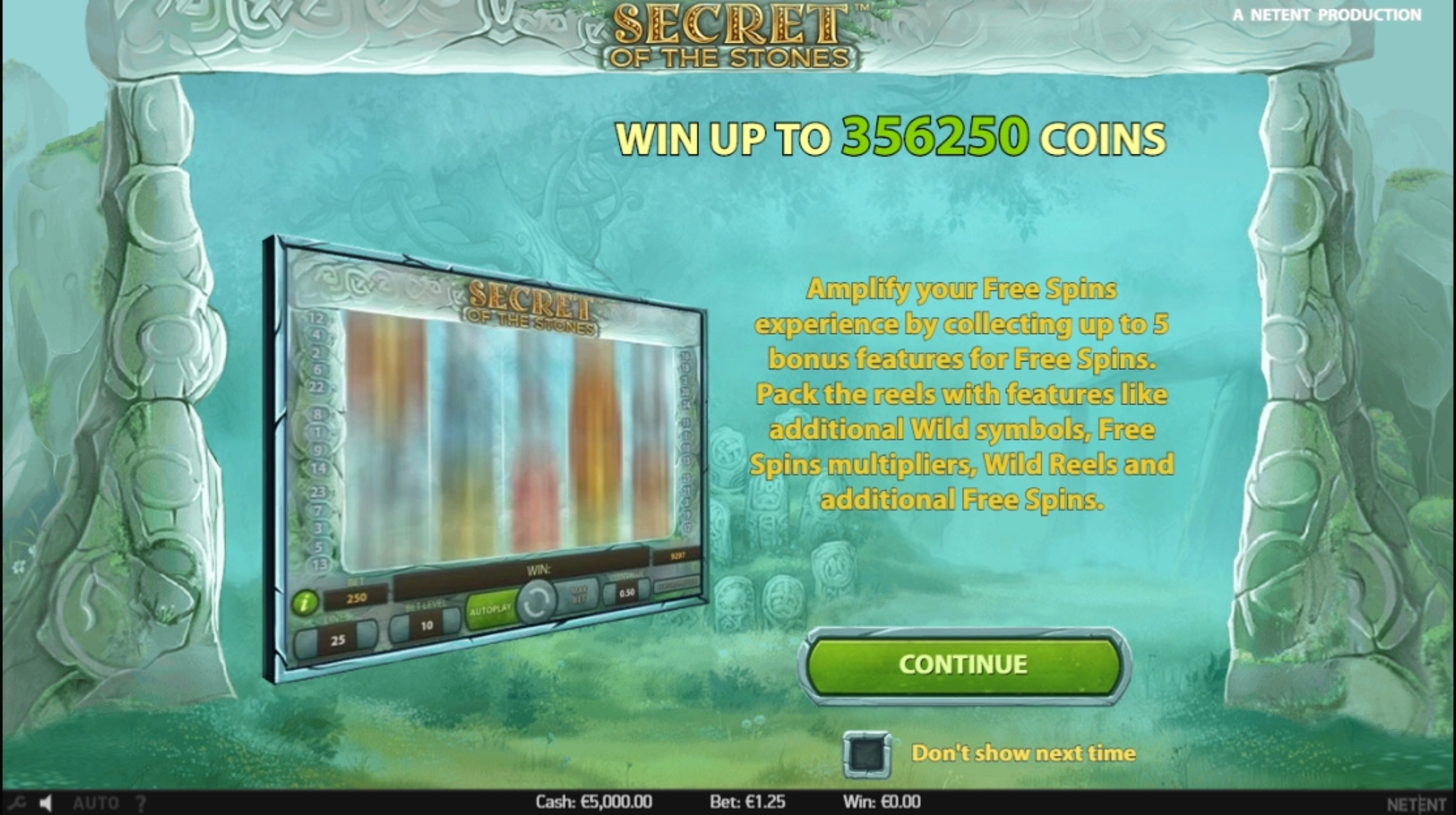 Play Secret of the Stones Free Casino Slot Game by NetEnt