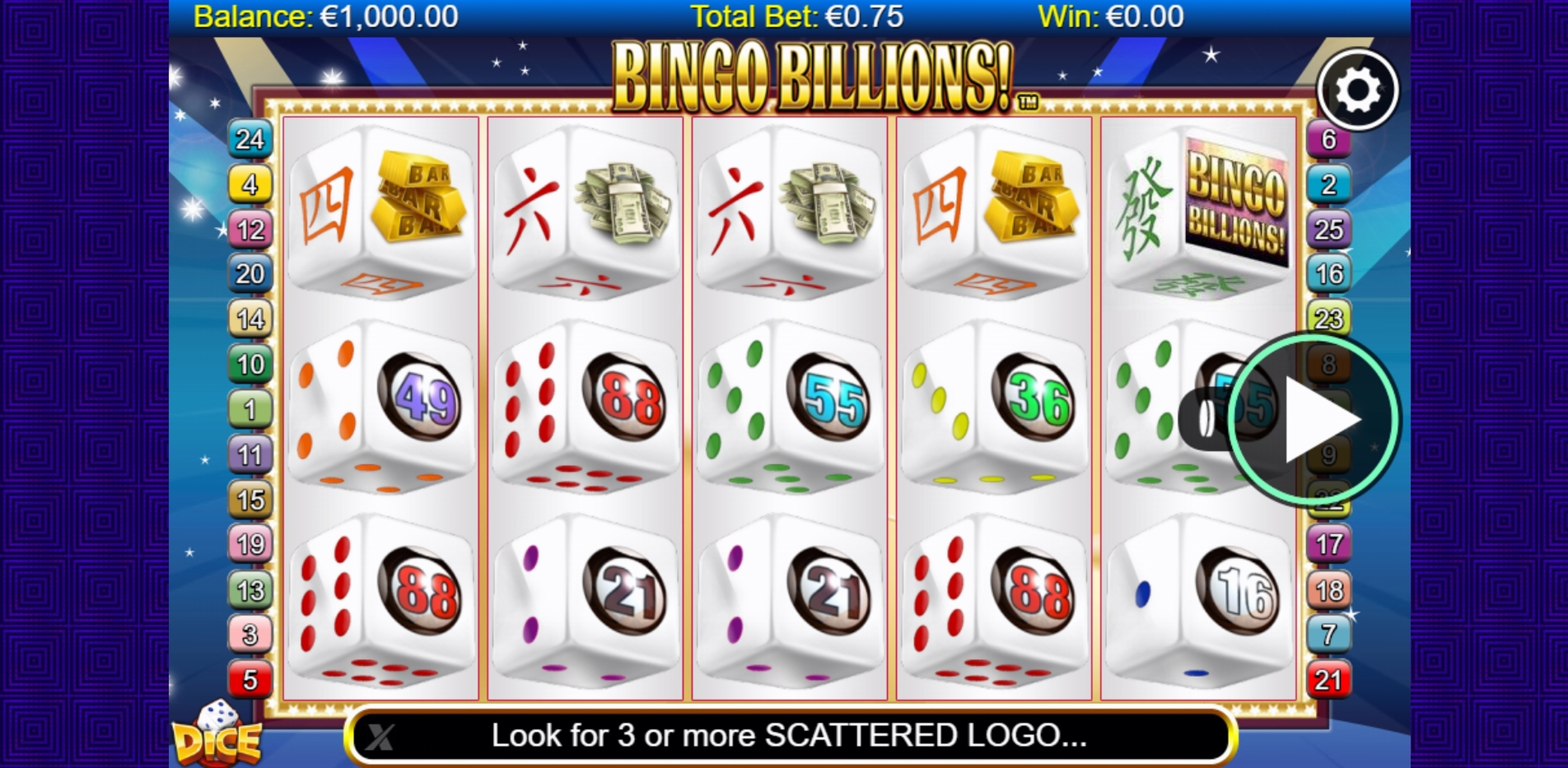 Reels in Bingo Billions Dice Slot Game by NextGen