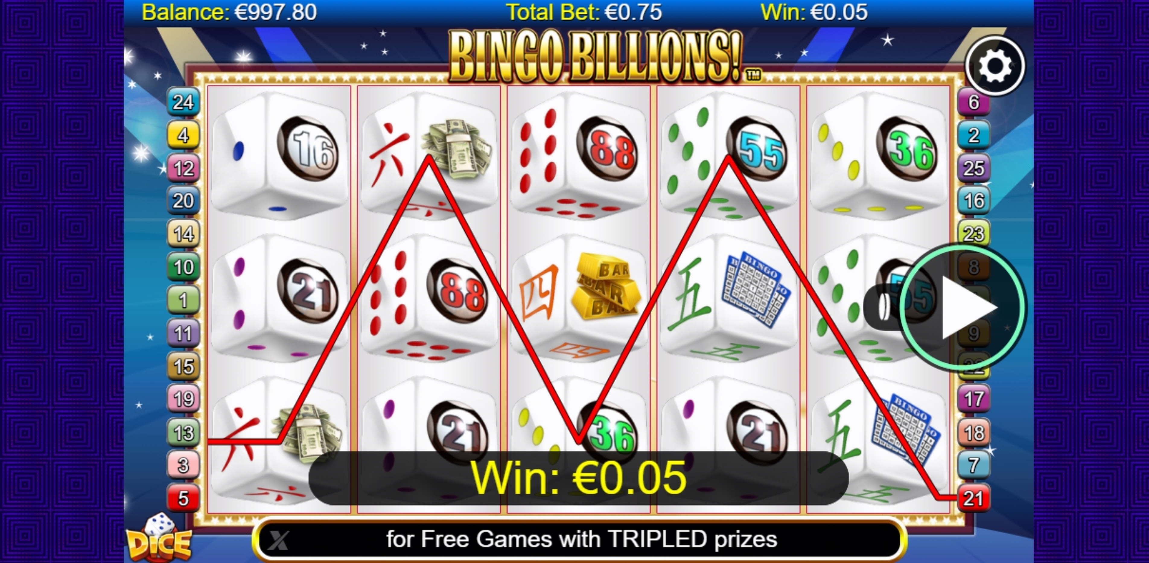 Win Money in Bingo Billions Dice Free Slot Game by NextGen